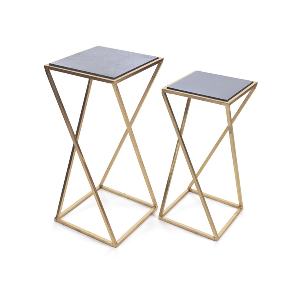 Aubrey Metal & Living Room Coffee Drink Occasional Side End Tables ...