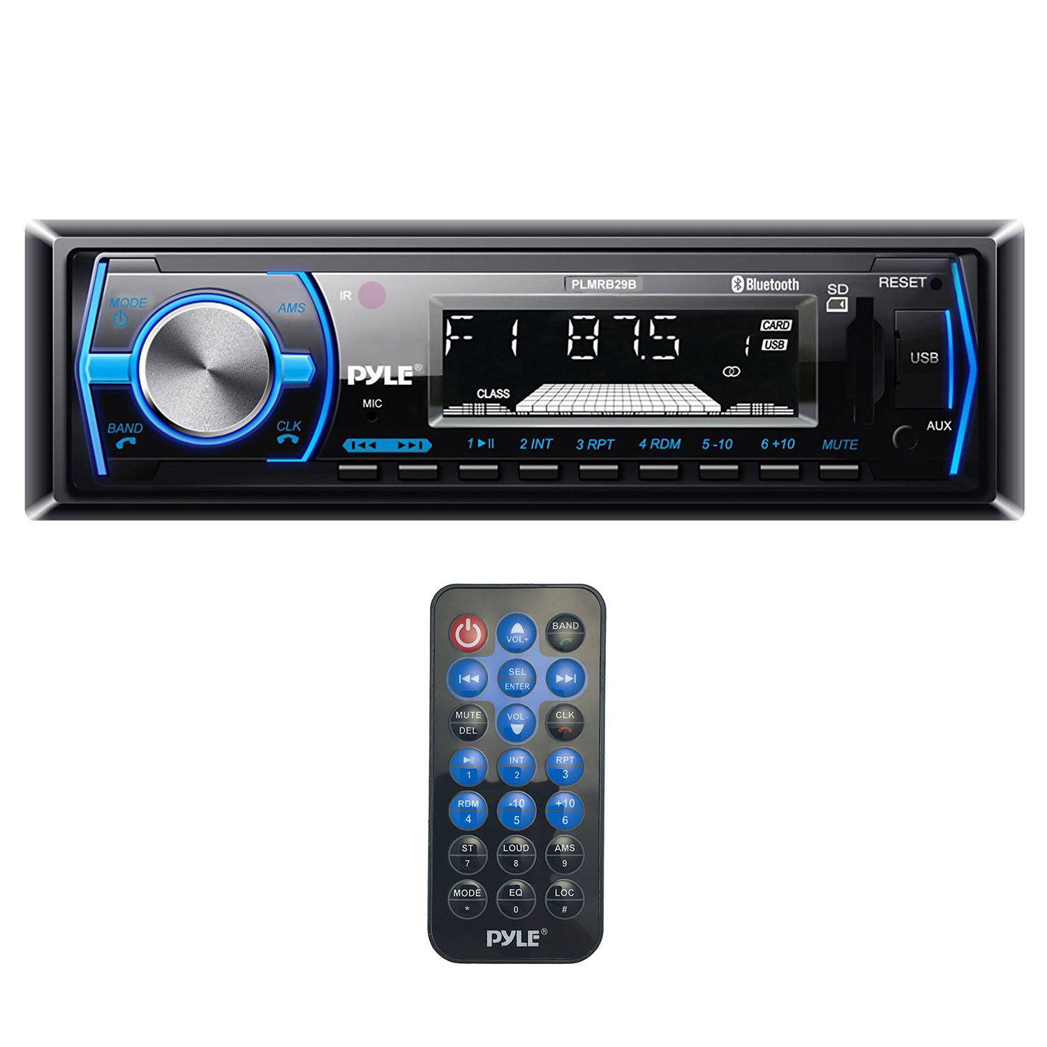 Pyle Single DIN Bluetooth In-Dash Car Audio Stereo