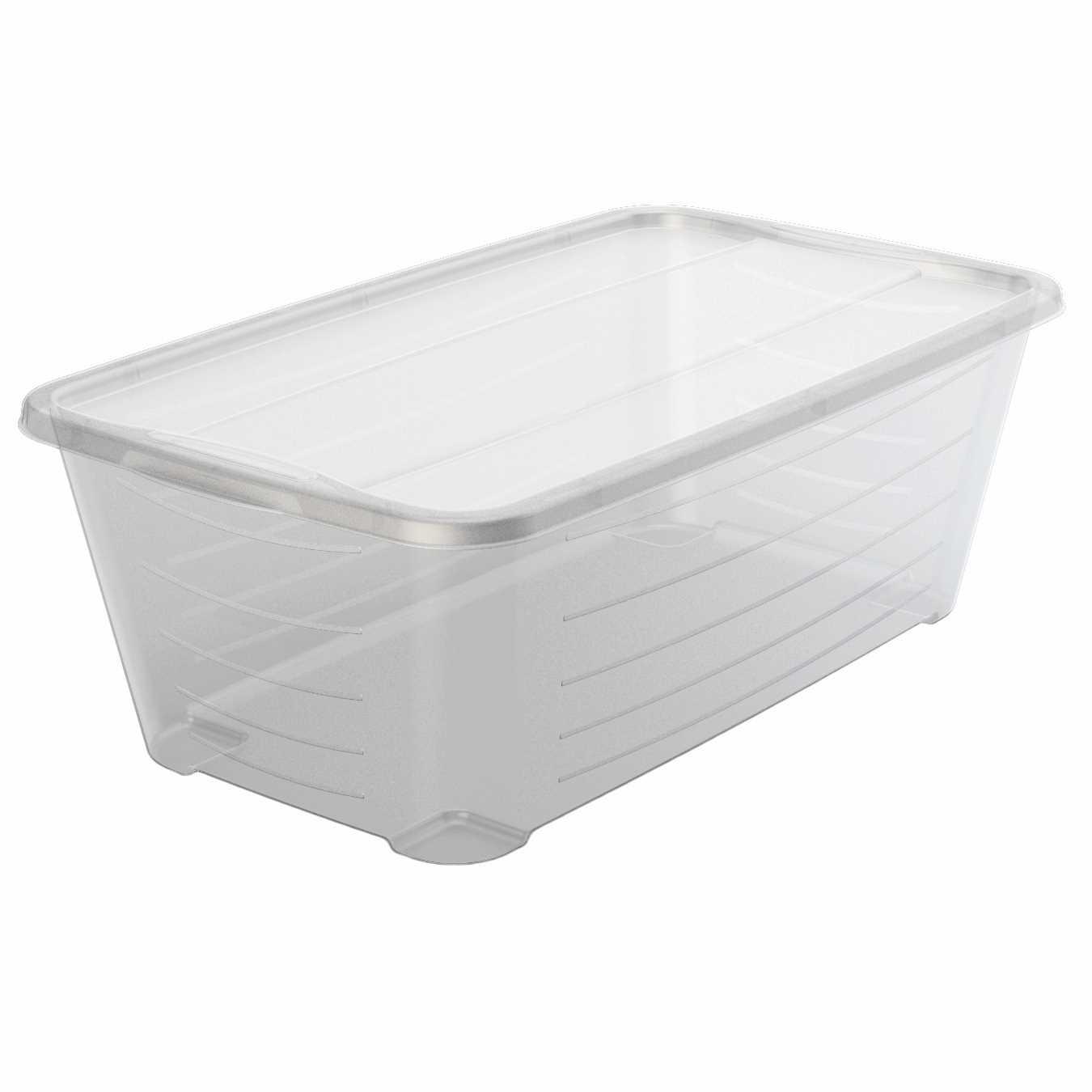 life story 6q rectangular clear plastic protective storage shoe box 8 pack 842372134934 ebay. Black Bedroom Furniture Sets. Home Design Ideas