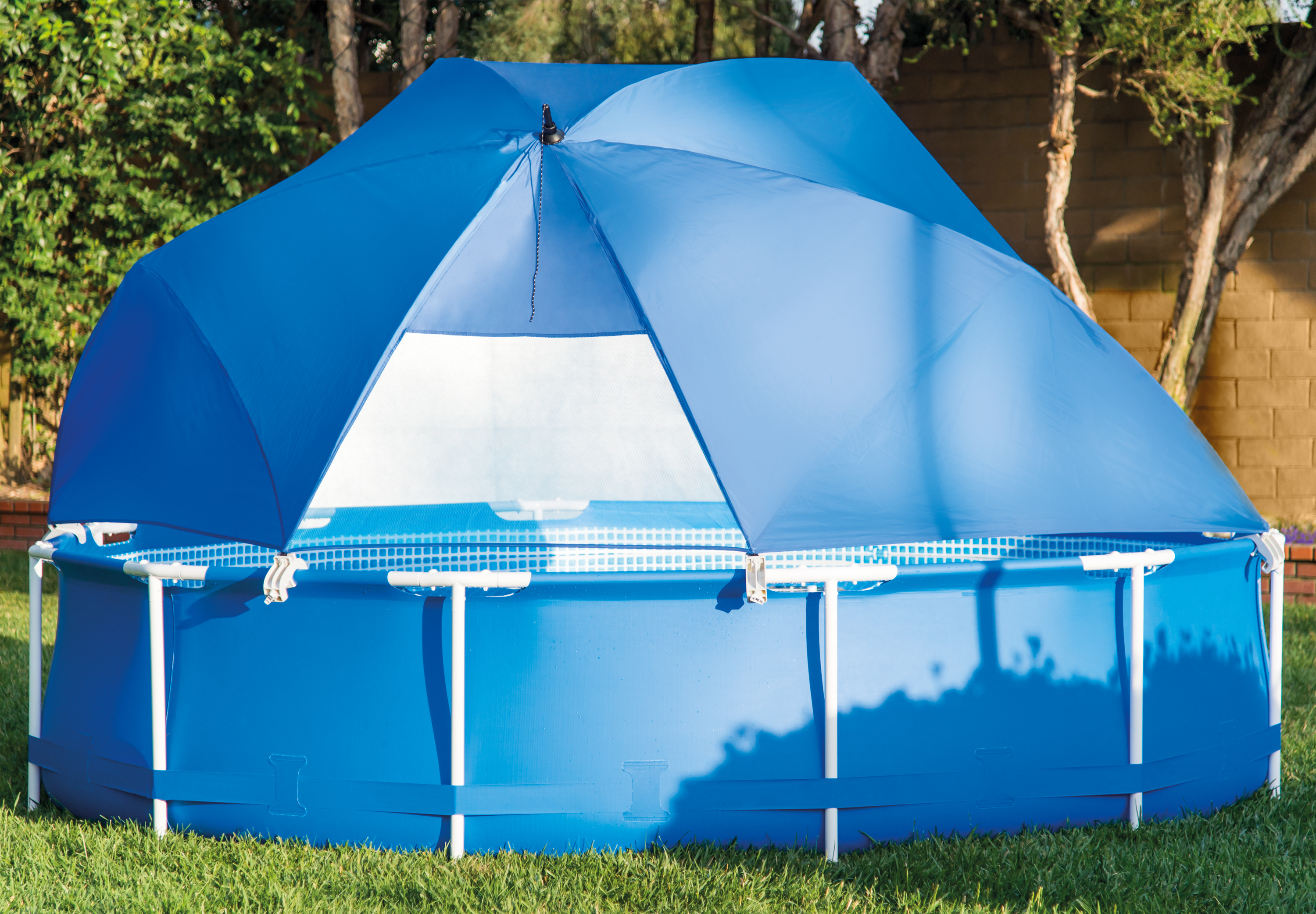 intex pool shade canopy for metal frame and ultra frame above ground pools
