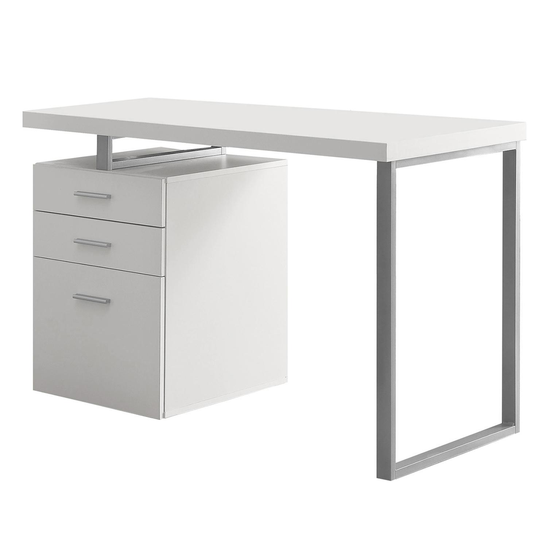 Monarch Specialties 48 Contemporary Reversible Set Up Computer Desk White