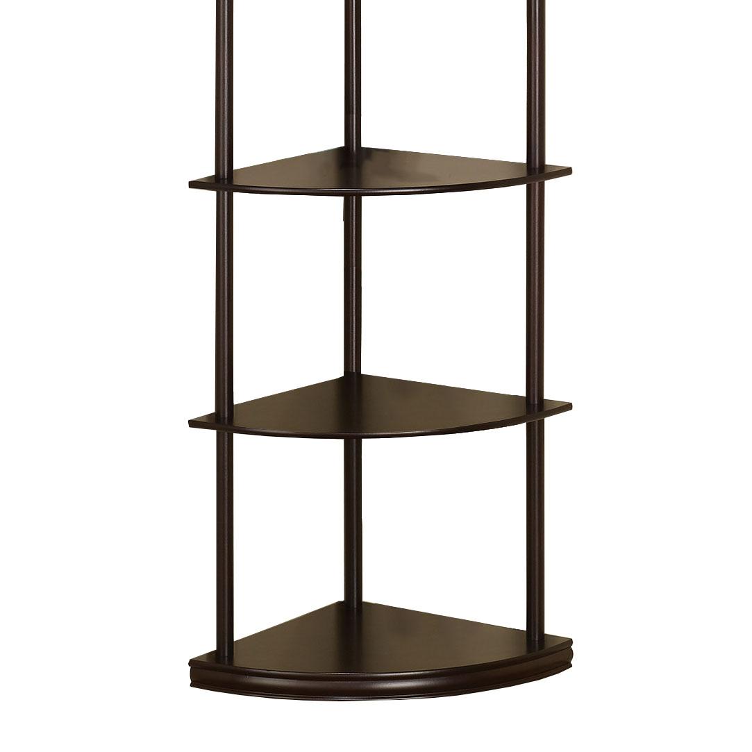 Coaster Home Furniture Contemporary Corner Bookshelf Bookcase Brown 2 Pack