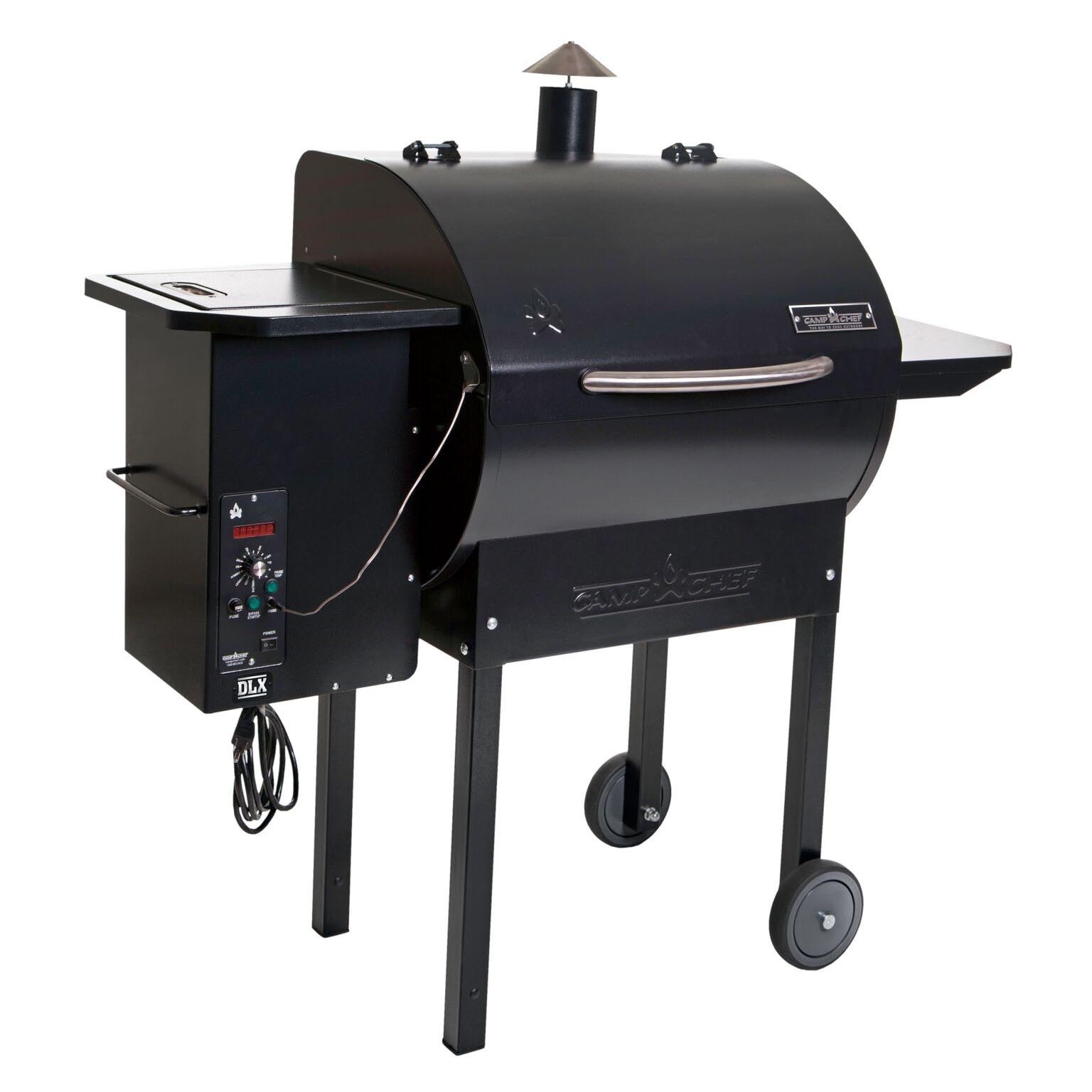 Camp chef smokepro dlx wood pellet outdoor bbq grill and smoker black pg24 ebay - Pellet grills and smokers ...