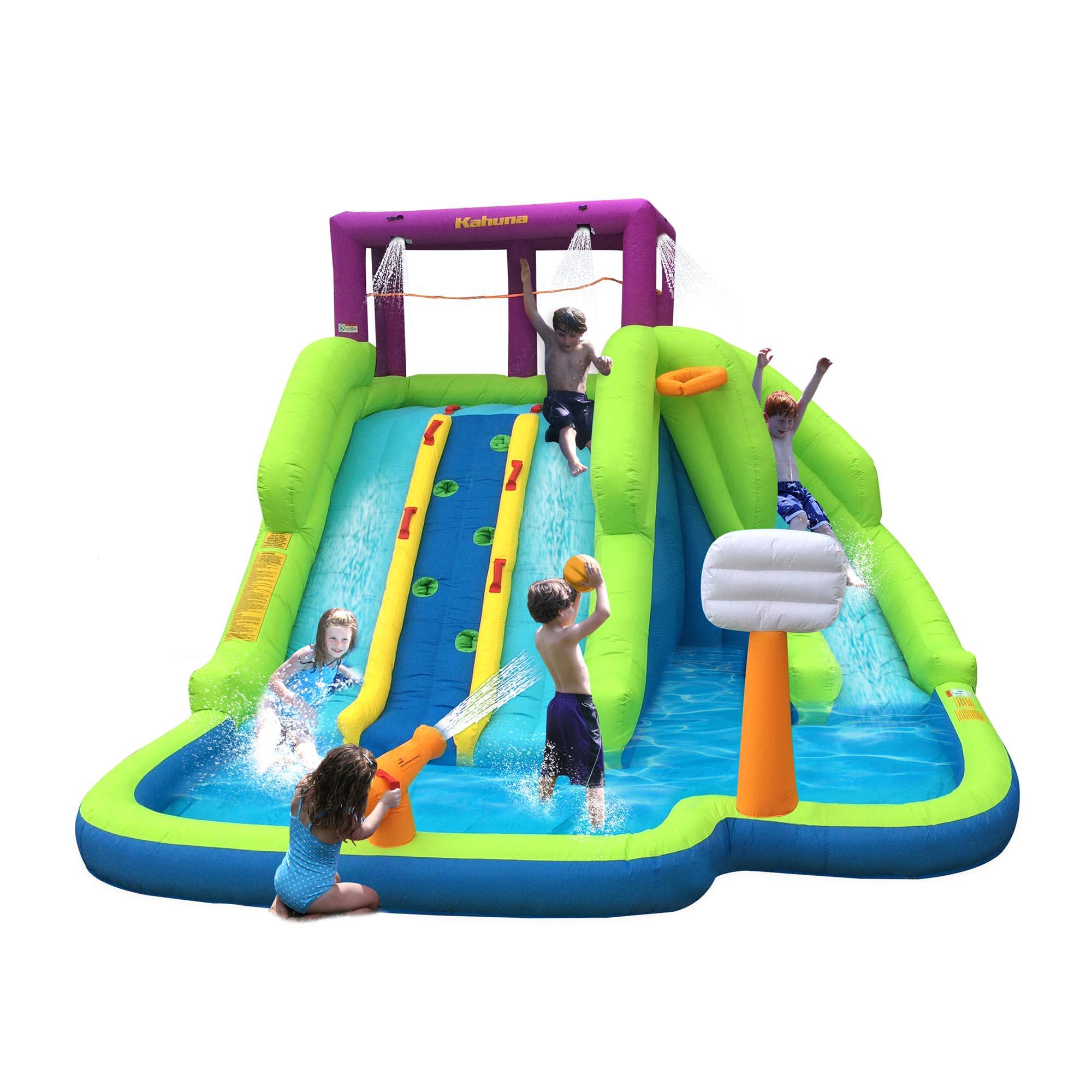 magic time triple blast kids outdoor inflatable splash pool