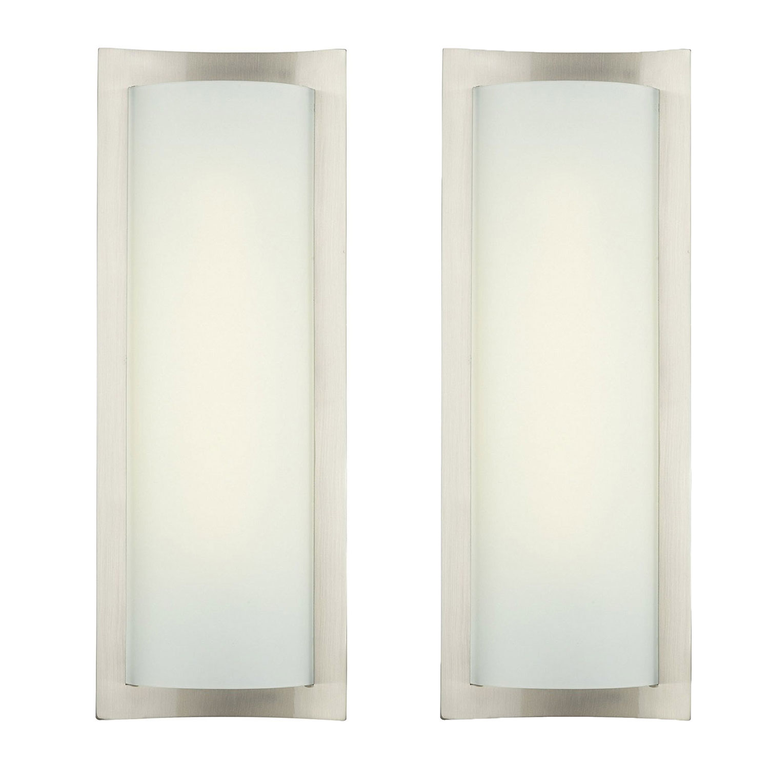 Details About Philips Forecast 24w 120v Bow Wrap Modern Bathroom Wall Light Nickel 2 Pack