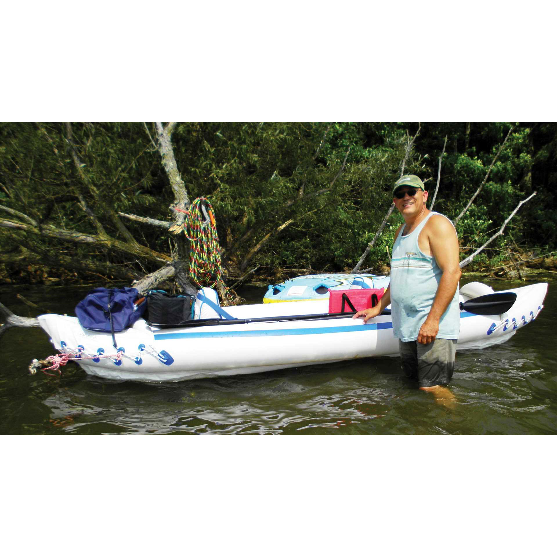 Sea eagle 370 pro 3 person blow up inflatable kayak for Blow up boat for fishing