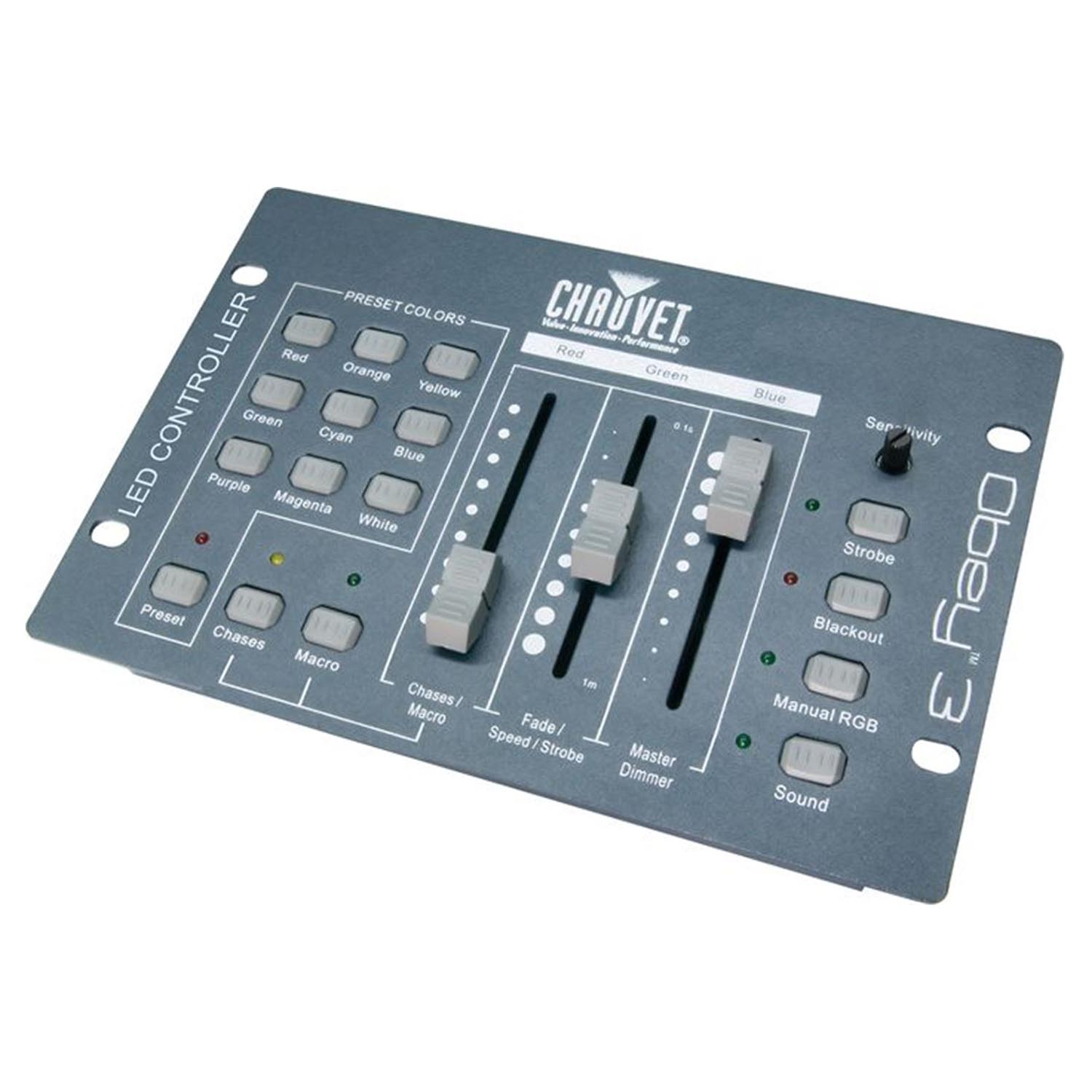 Chauvet DJ OBEY 3 Channel DMX 512 Adjustable Sound Active