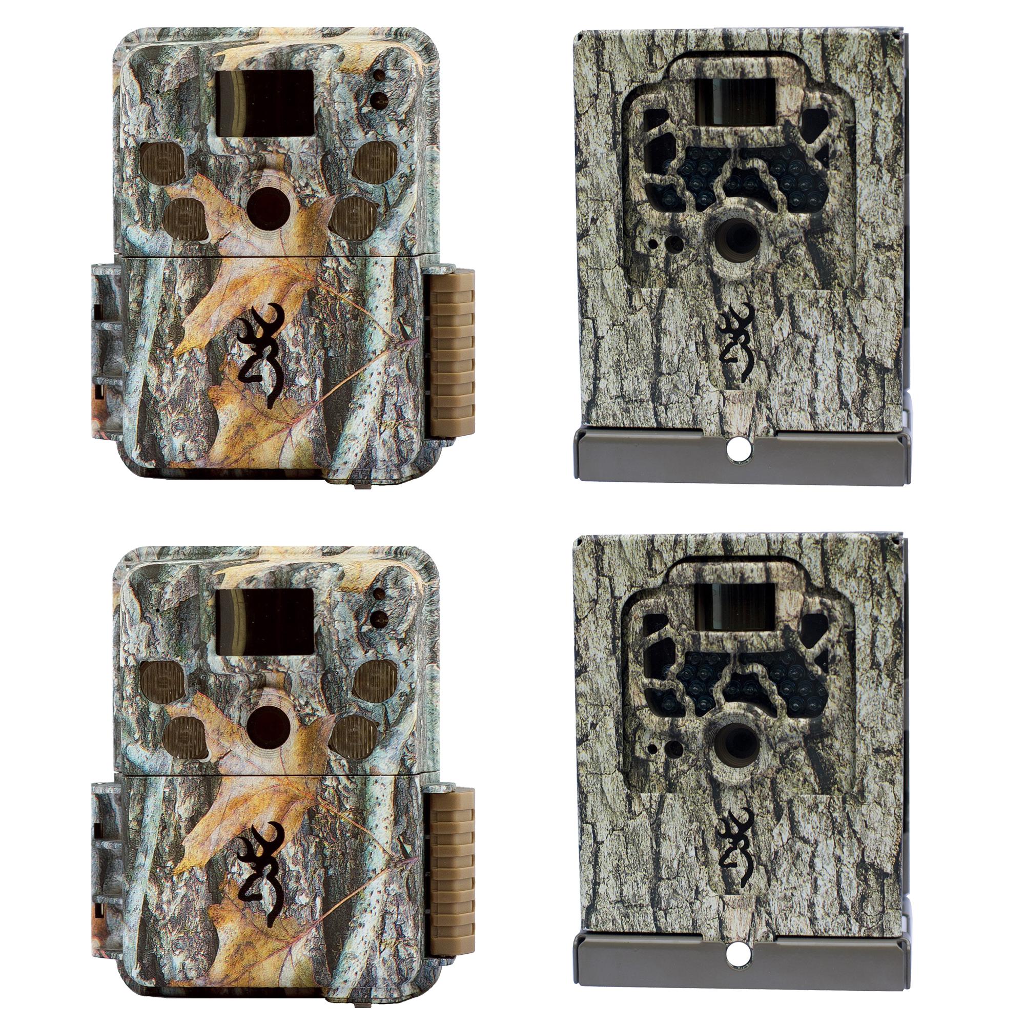 marróning Trail Cameras Strike Force Pro cámara de juego, cajas de seguridad + 2 Pack