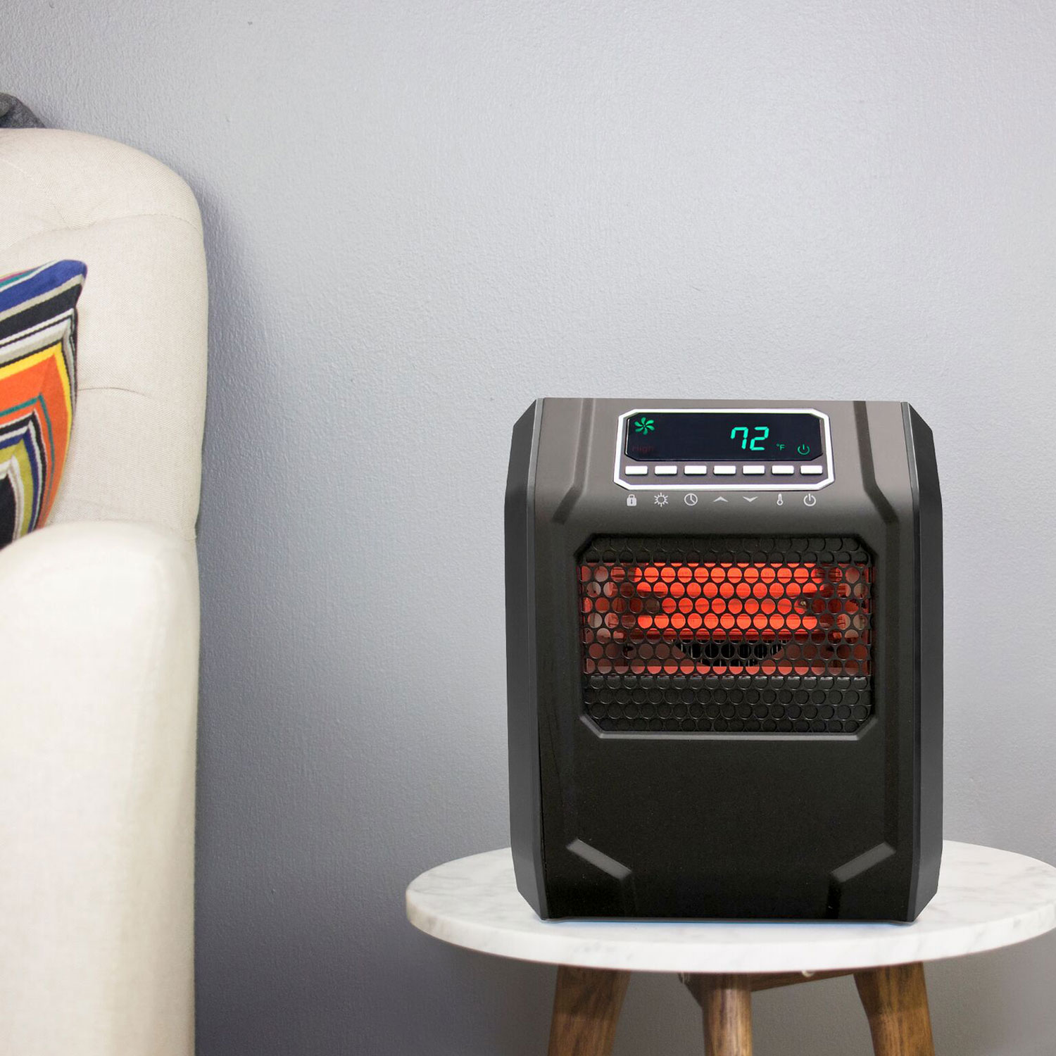 Space Heaters For Living Room: Lifesmart 4-Element Quartz Infrared Portable Electric