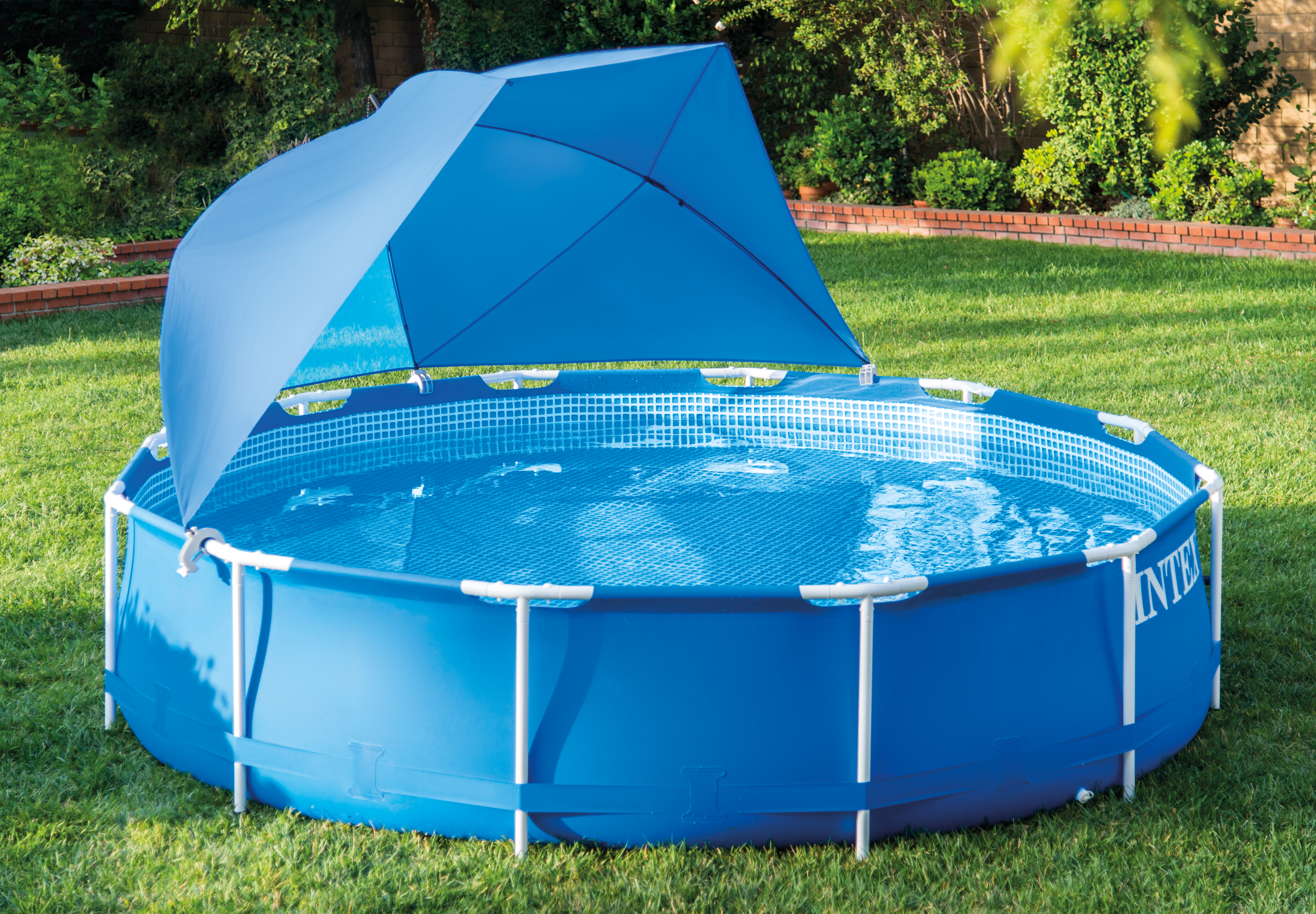 Intex Pool Shade Canopy for Metal Frame and Ultra Frame Above Ground ...