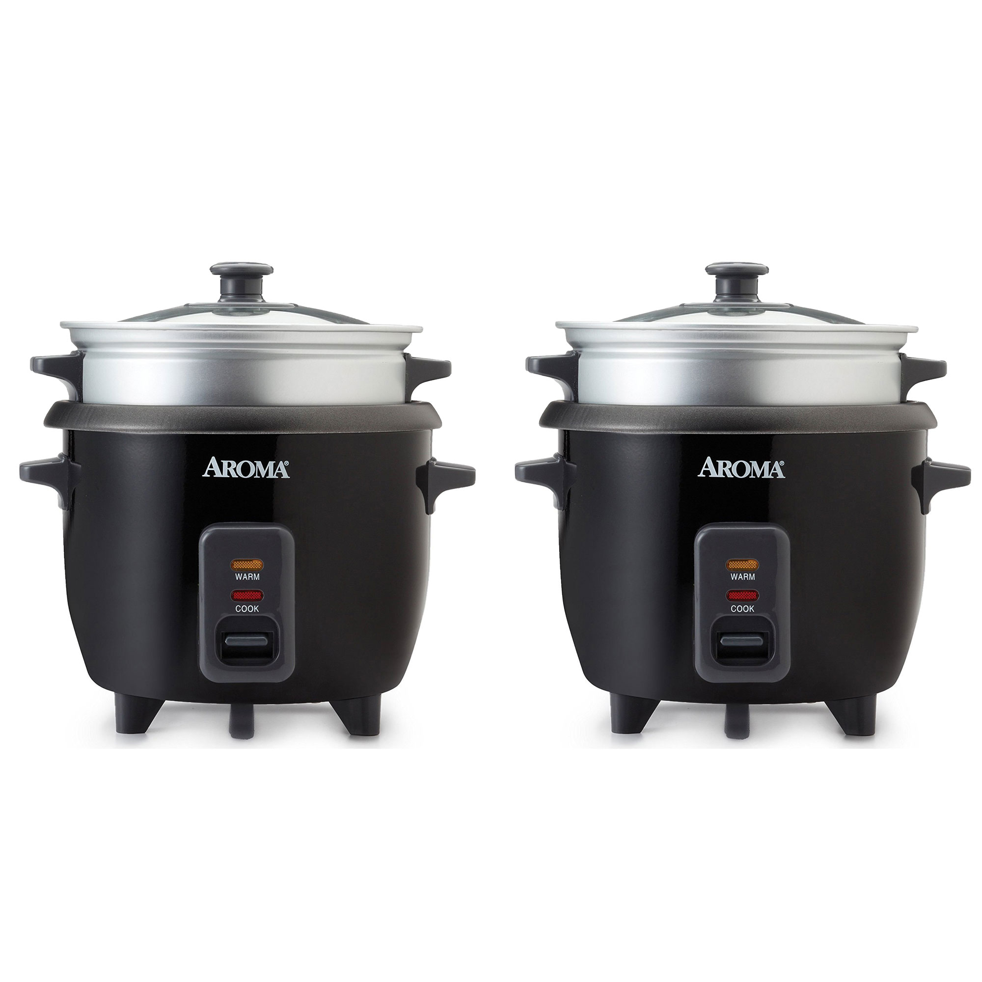 851c1fbbf8 Aroma 6 Cup Cooked White Pot Style Rice Cooker and Food Steamer ...
