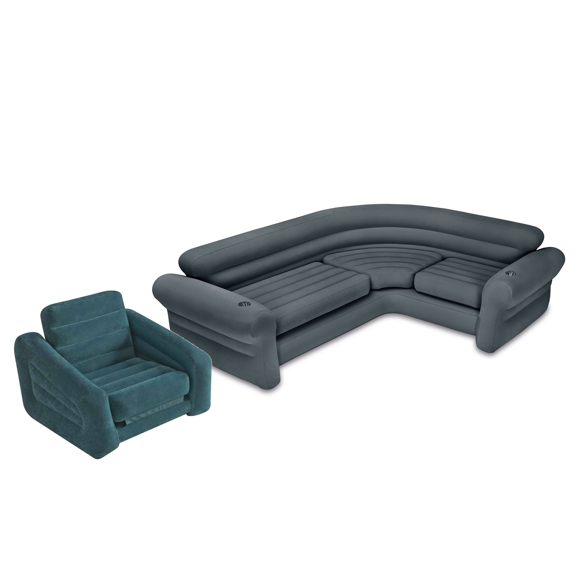 Intex Inflatable Corner Couch Sectional Sofa And Pull Out