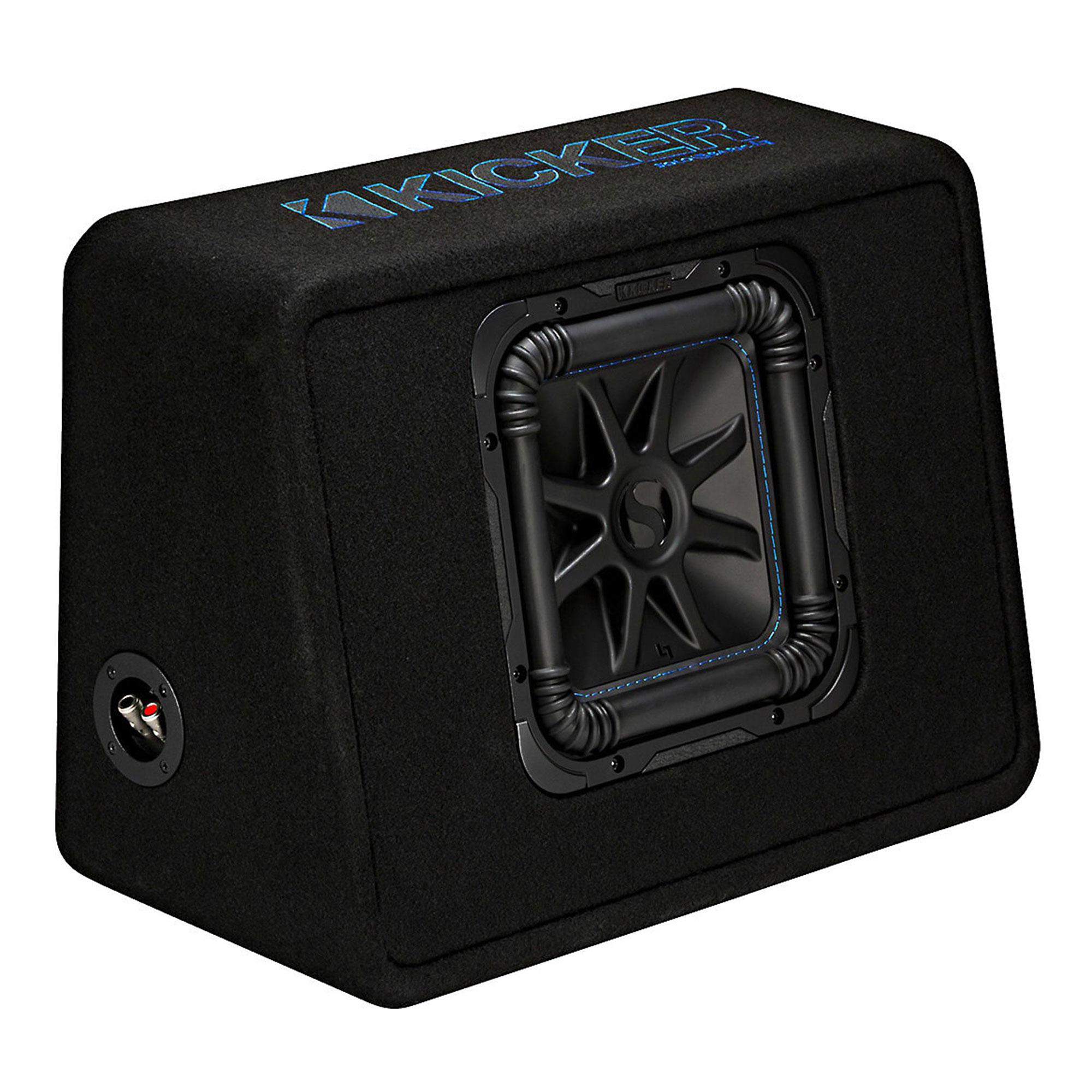 Kicker 10 1200w Single Loaded Solo Baric L7s Subwoofer Enclosure Jl Audio Xd Acs60 6 Gauge Amplifier Amp Wire Installation Kit Speaker 44tl7s102