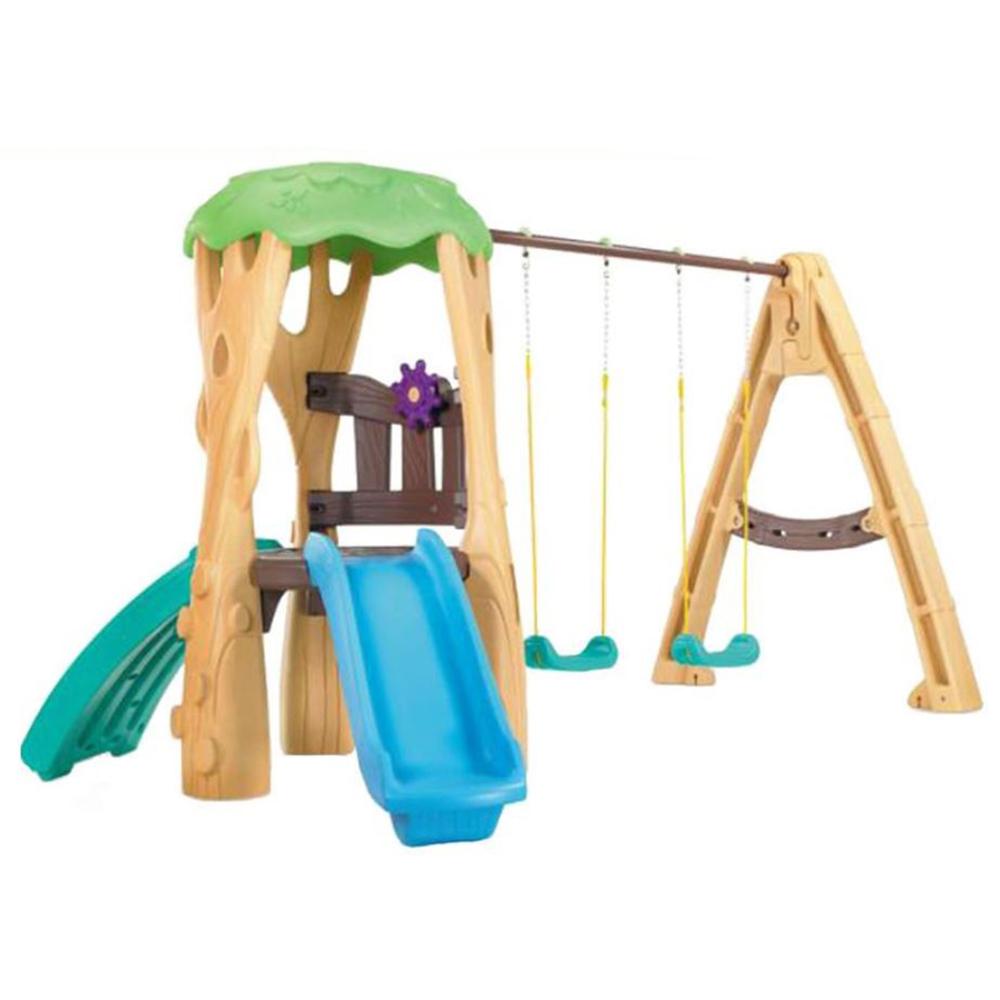 Little Tikes Kids Tree House Outdoor Backyard Playground Climbing ...