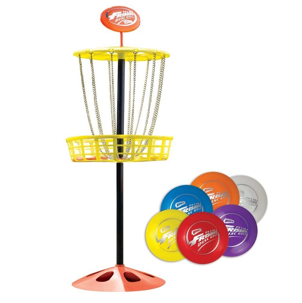 Wham O Youth Indoor/Outdoor Portable Mini Frisbee Golf Toy Set ...