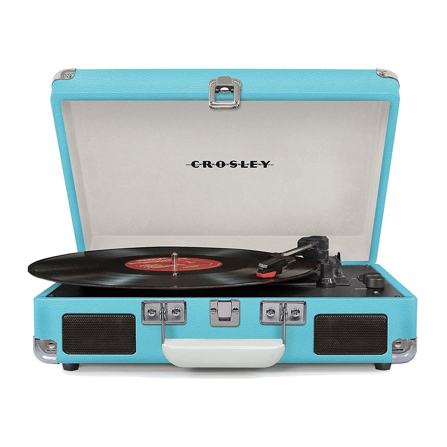 crosley cruiser deluxe portable bluetooth record player turntable turquoise 691161508643 ebay. Black Bedroom Furniture Sets. Home Design Ideas