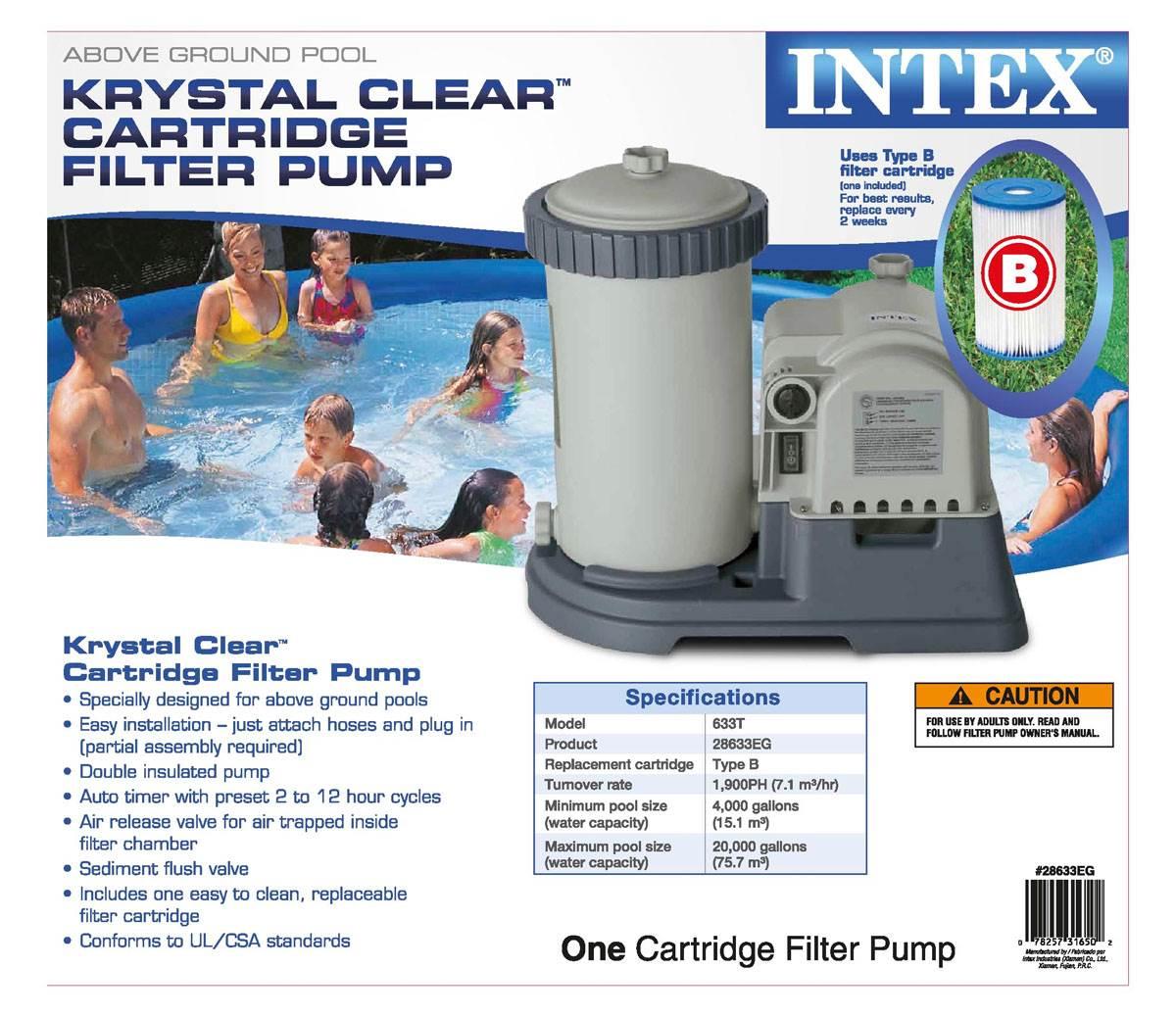 Intex 59905E Swimming Pool Easy Set Type B Replacement Filter Pump Cartridge