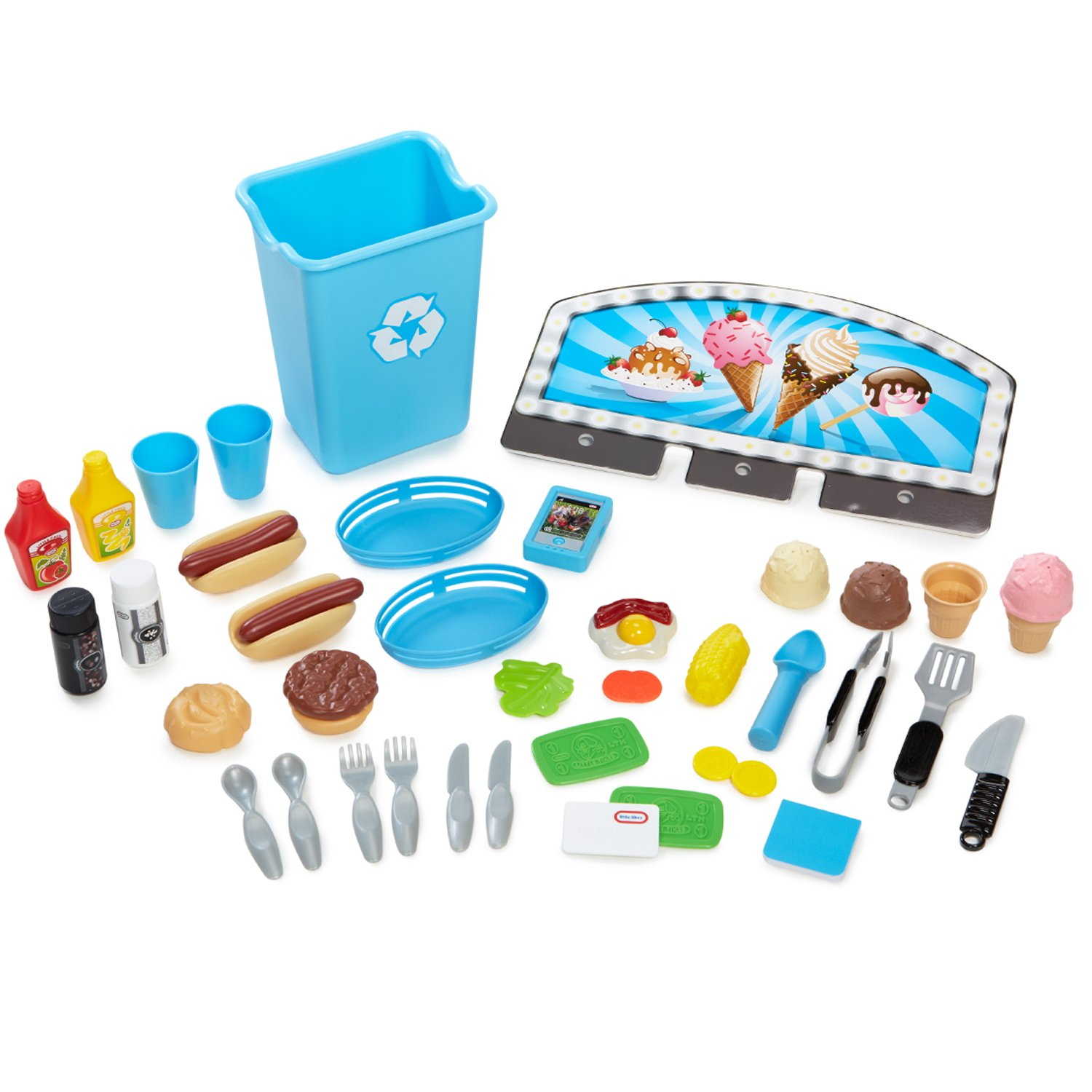 Little Tikes 2-in-1 Kids Pretend Play Pop Up Ice Cream and Food ...