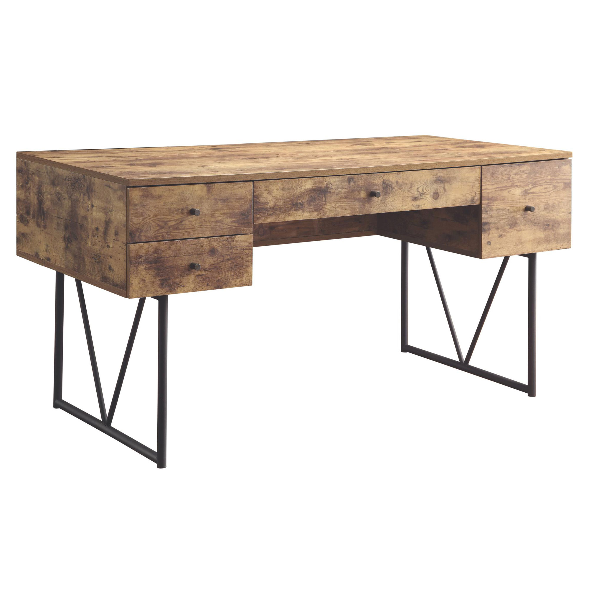 home office writing desks. Coaster Home Furniture Barritt 4 Drawer Office Writing Desk, Antique Nutmeg Desks
