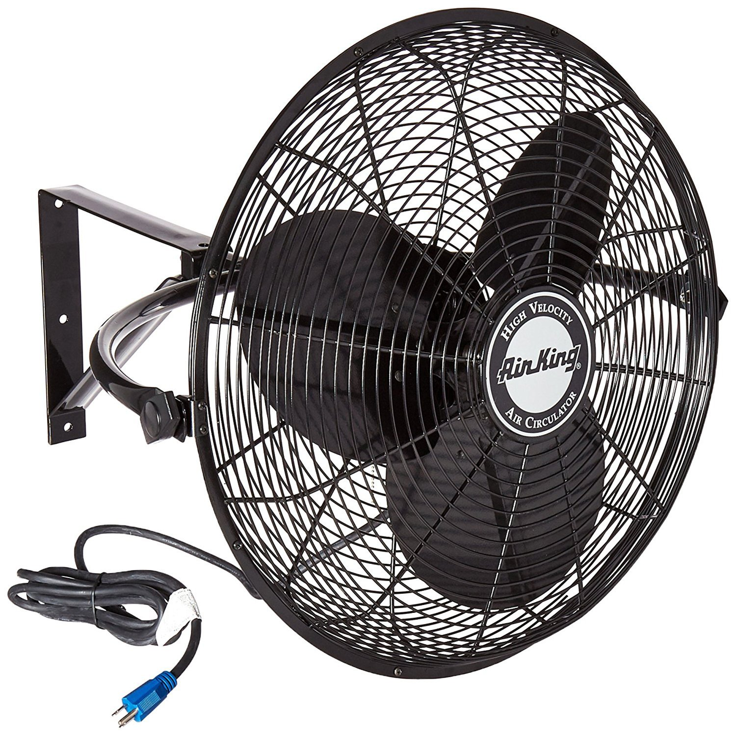 Wall Mount Fans : Air king quot hp speed non oscillating totally
