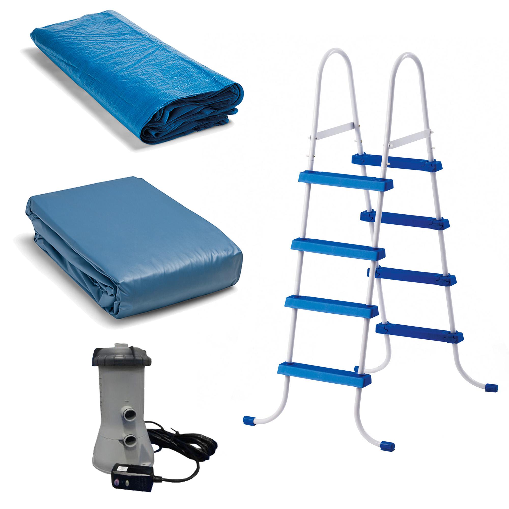 Intex 15 39 X 48 Easy Set Swimming Pool Kit W 1000 Gph Gfci Filter Pump 26167eh Ebay