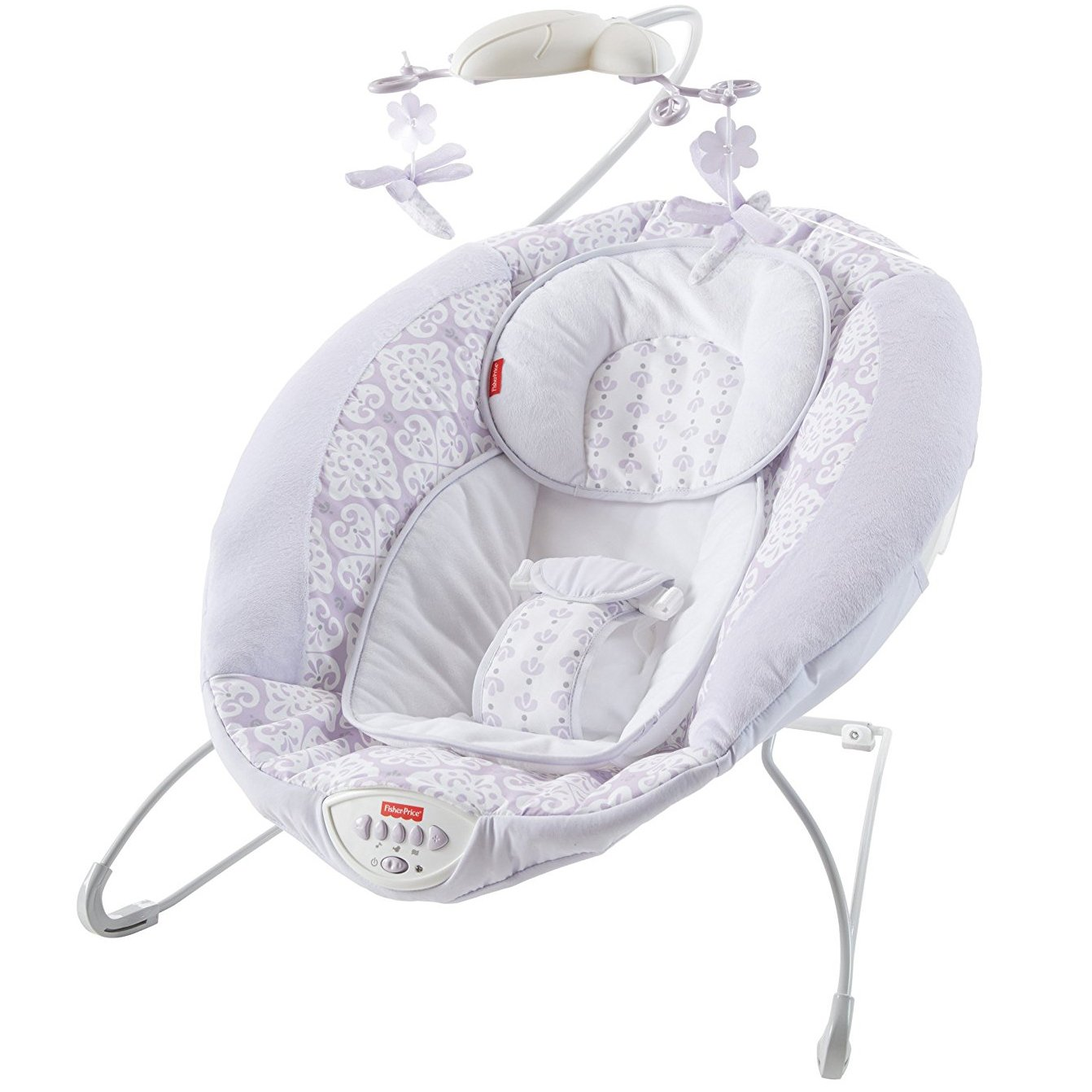 Fisher Price Bouncer >> Fisher Price Fairytale Newborn Deluxe Bouncer with Baby Mobile, Lavender DPW08   eBay