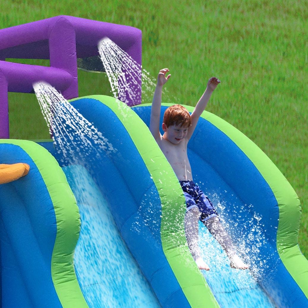 magic time twin falls outdoor inflatable splash pool backyard