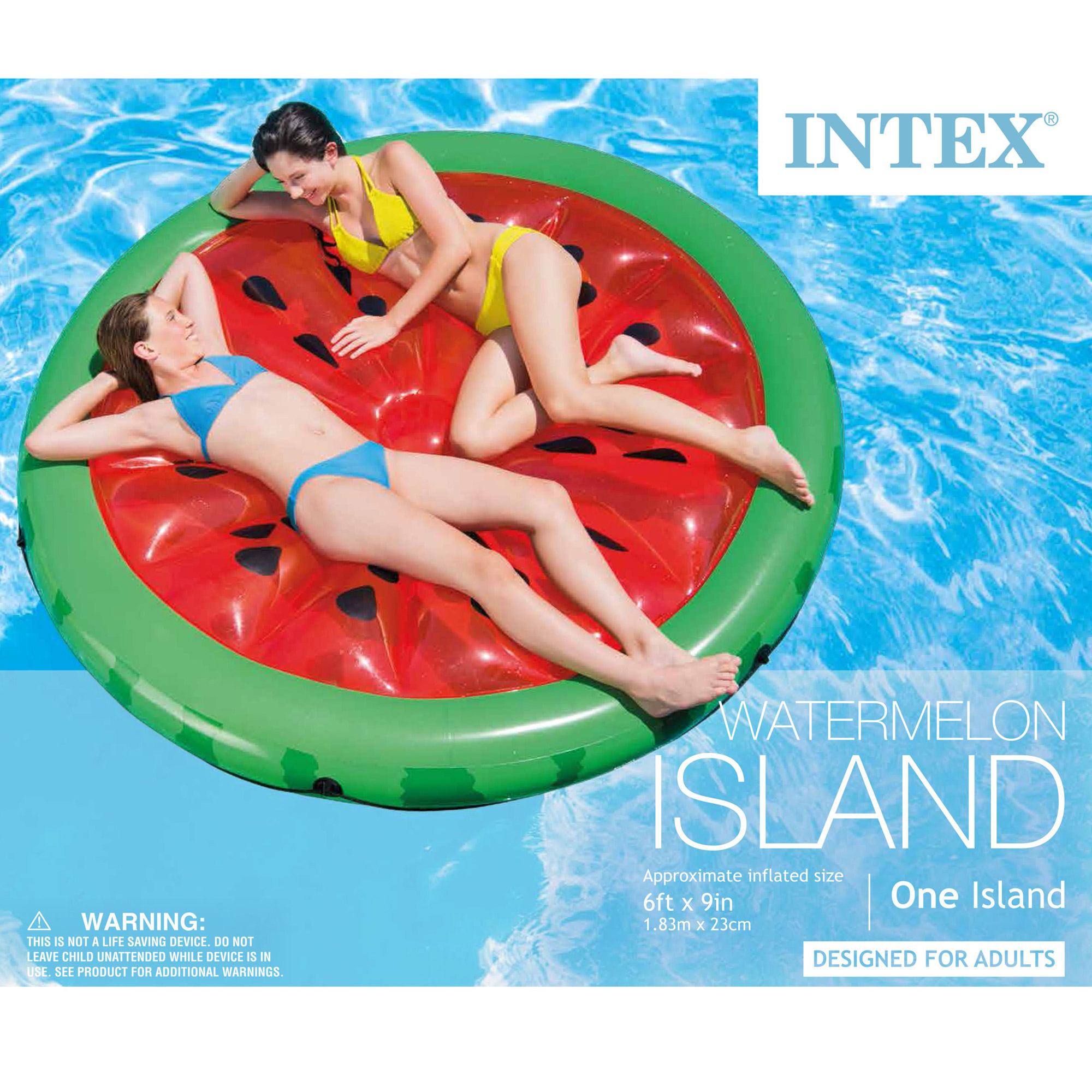 Intex Giant Inflatable 72 Inch Watermelon Island Swimming Pool Raft 56283ep Ebay