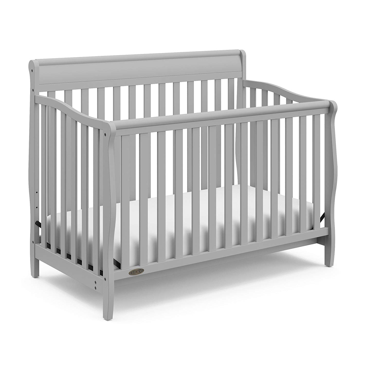 Details about graco stanton durable 4 in 1 convertible baby toddler child crib pebble gray