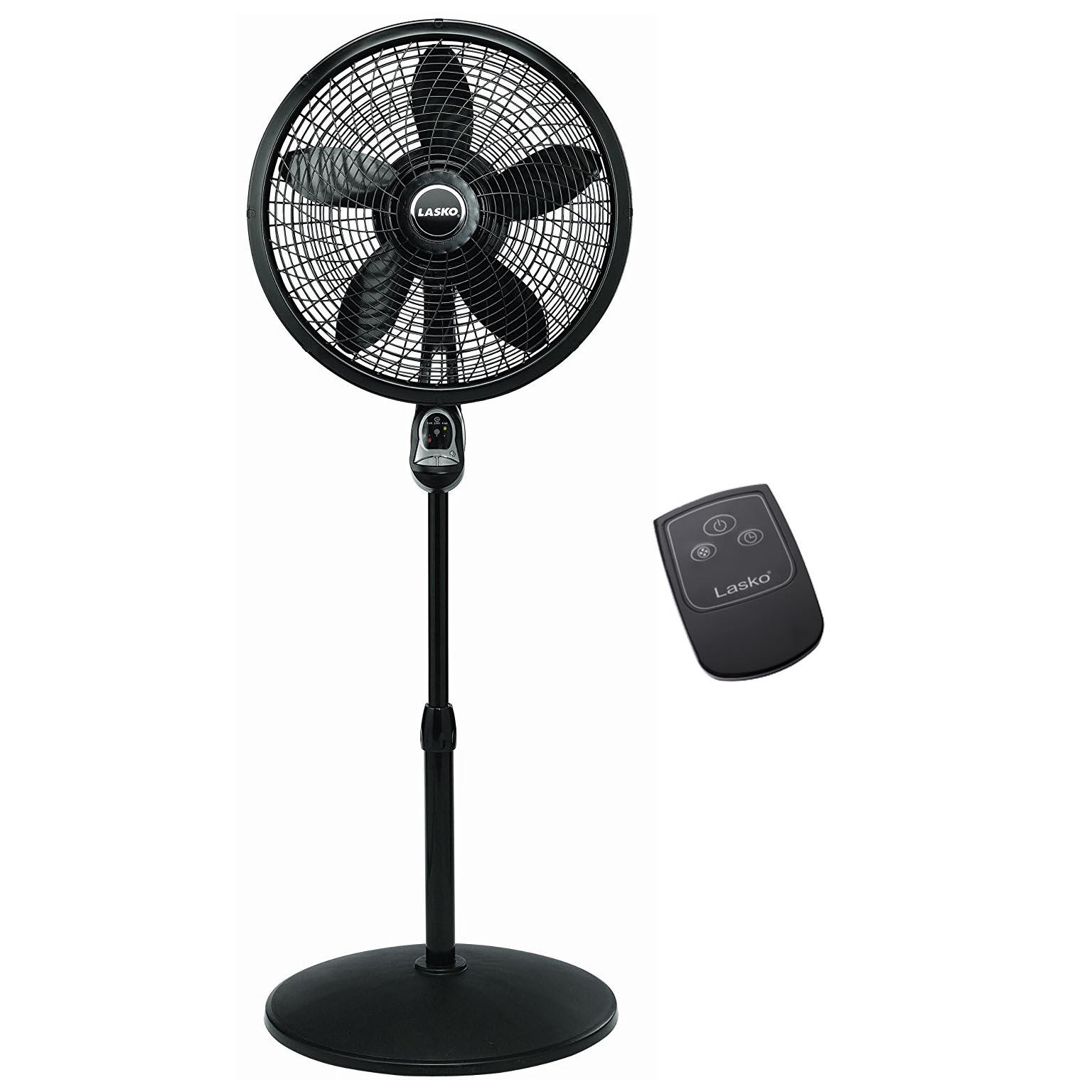 Oscillating Stand Fan : Lasko inch oscillating cyclone pedestal stand fan w