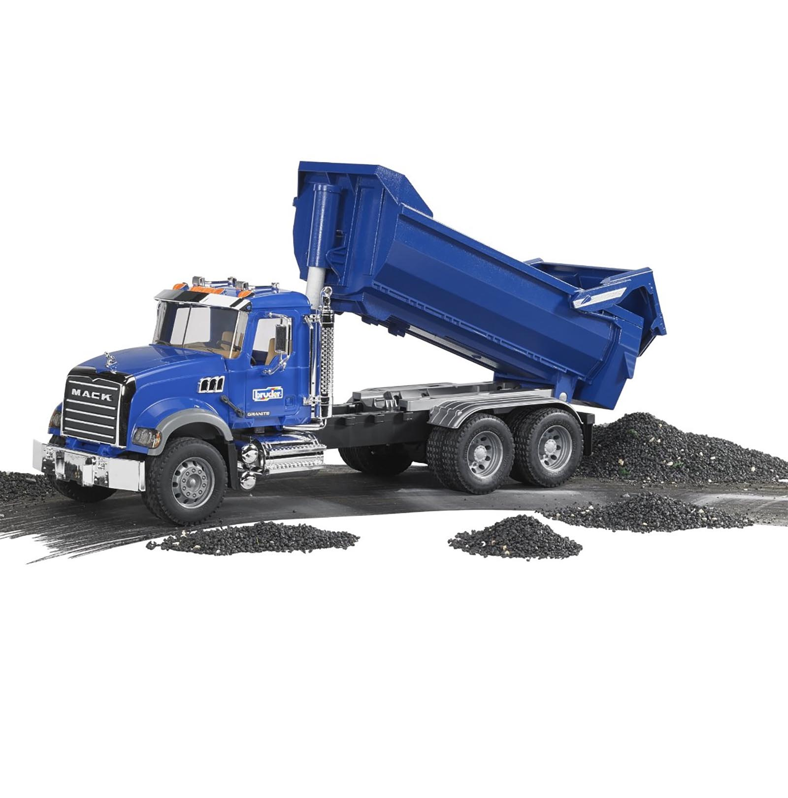 bruder toys kids toy 1 16 model replica mack granite halfpipe dump