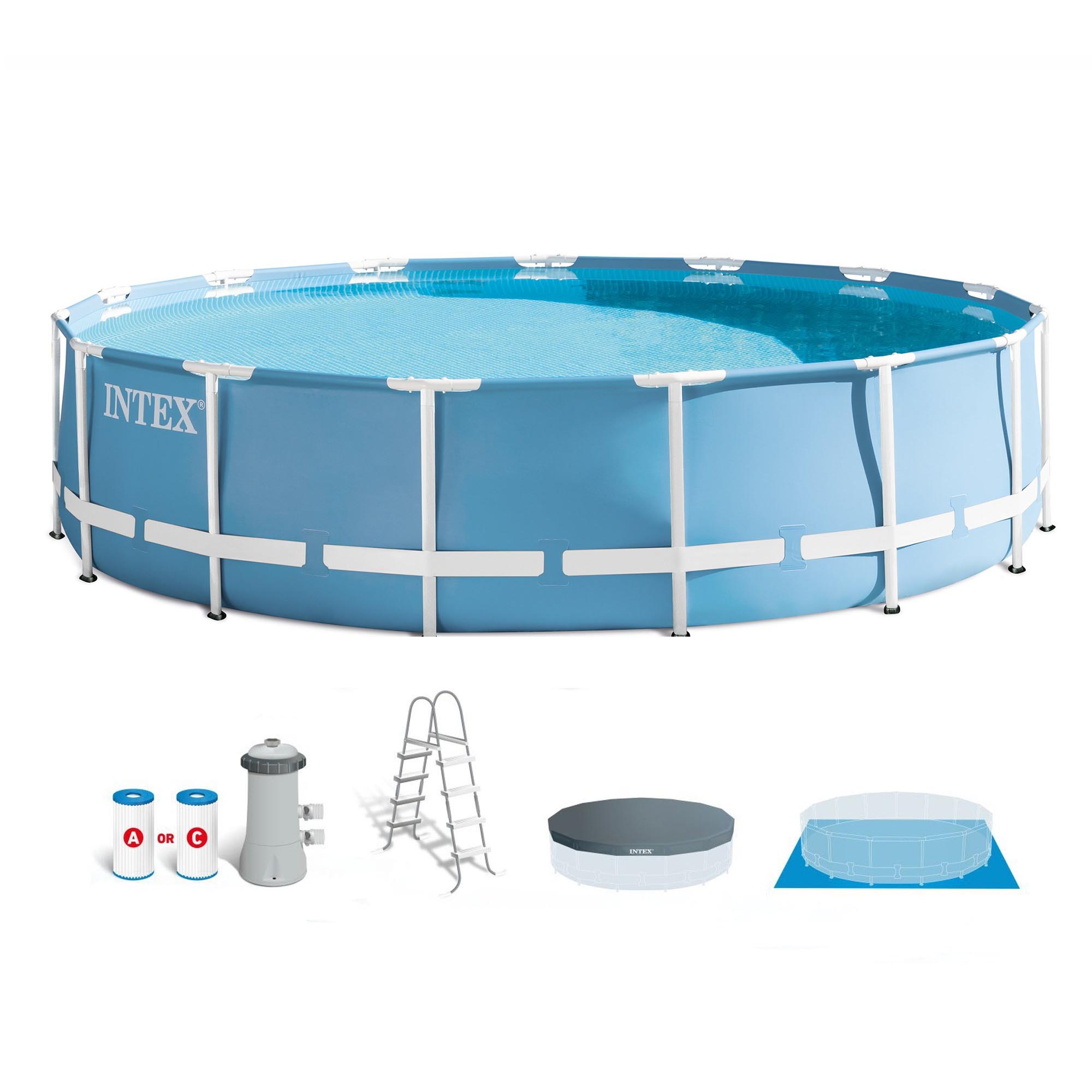 Intex 15 X 48 Quot Prism Metal Frame Above Ground Swimming