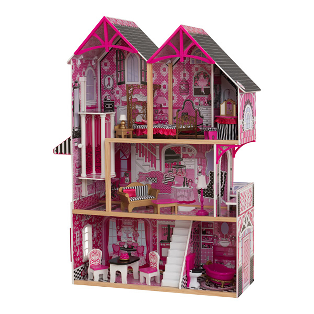 Kidkraft 65906 Couture Sparkle Mansion Curved Roof Kid Dollhouse