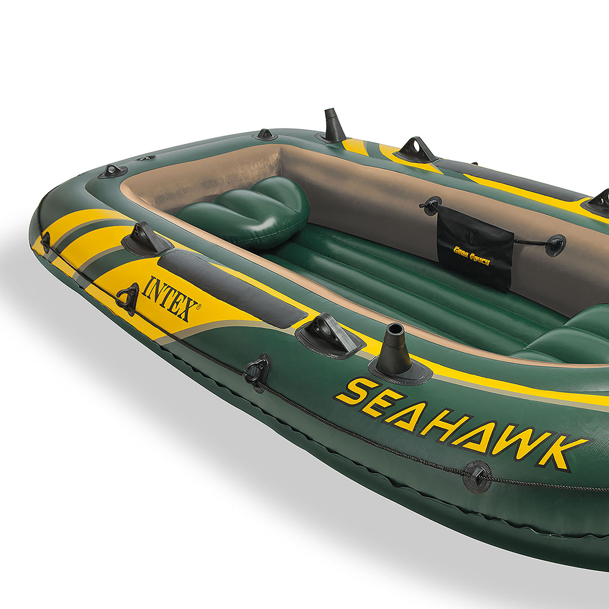 intex seahawk 3 heavy duty inflatable fishing boat with