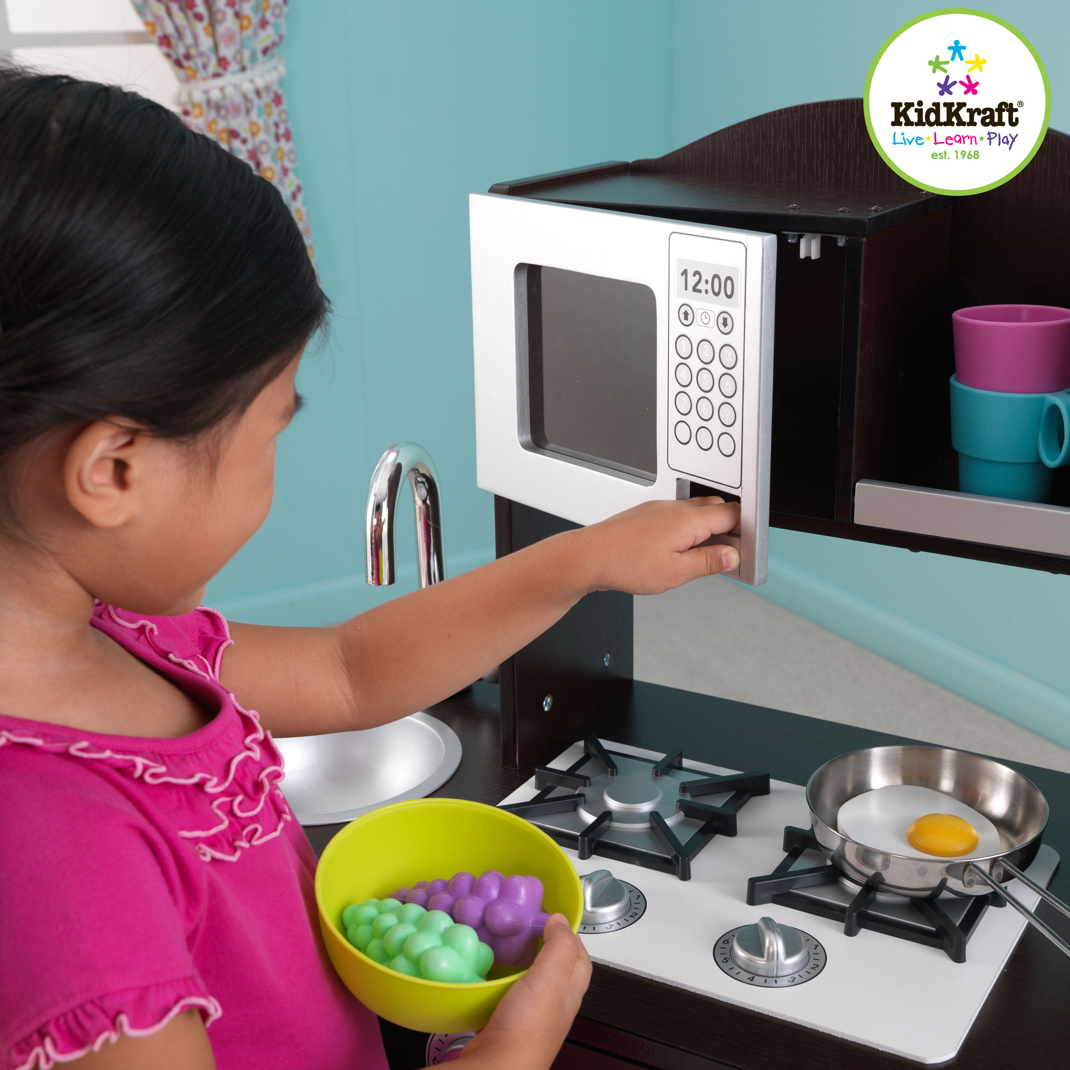 Kidkraft Modern Espresso Toddler Kitchen