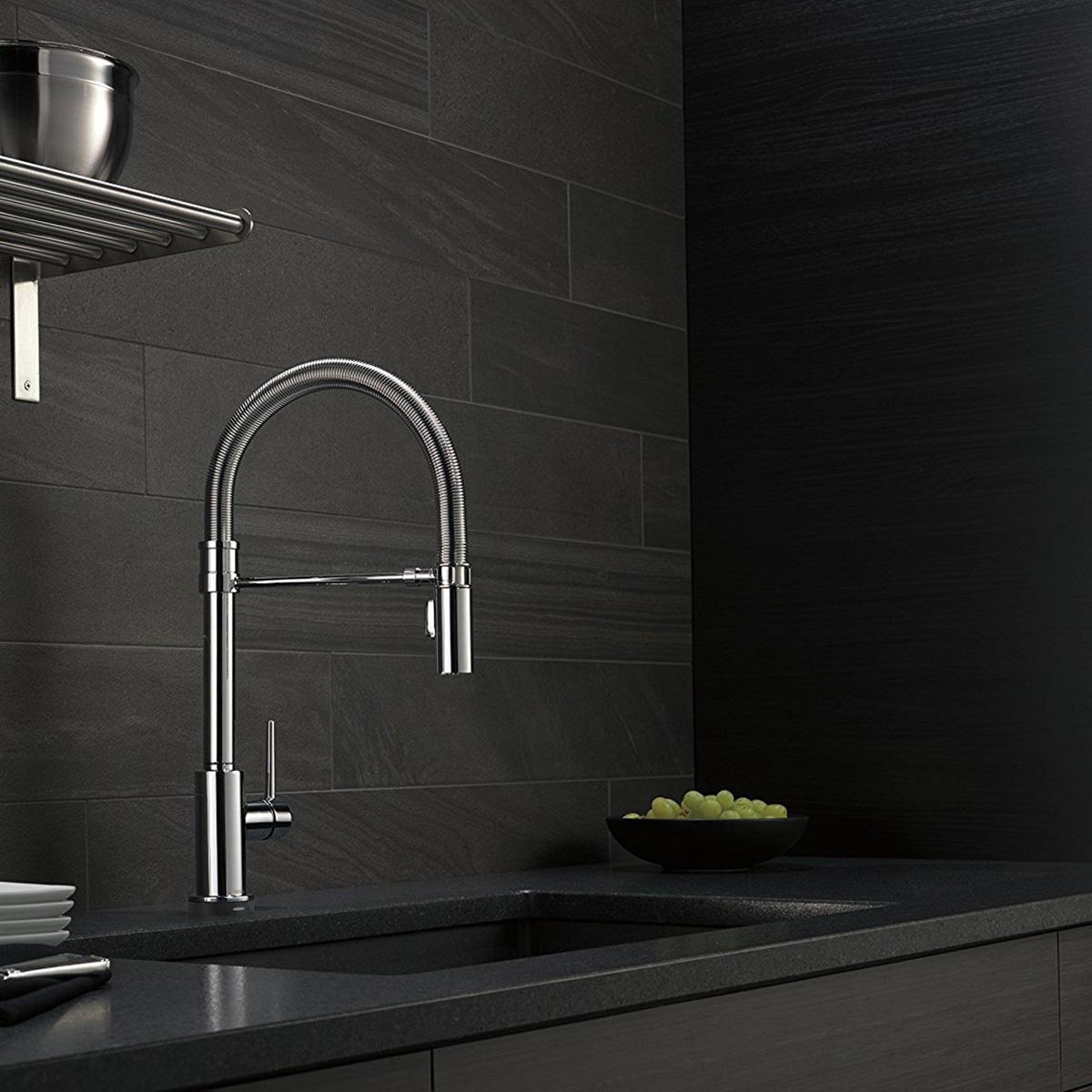 Delta Faucets Trinsic Pro Spring Spout Touch Kitchen Faucet, Chrome ...