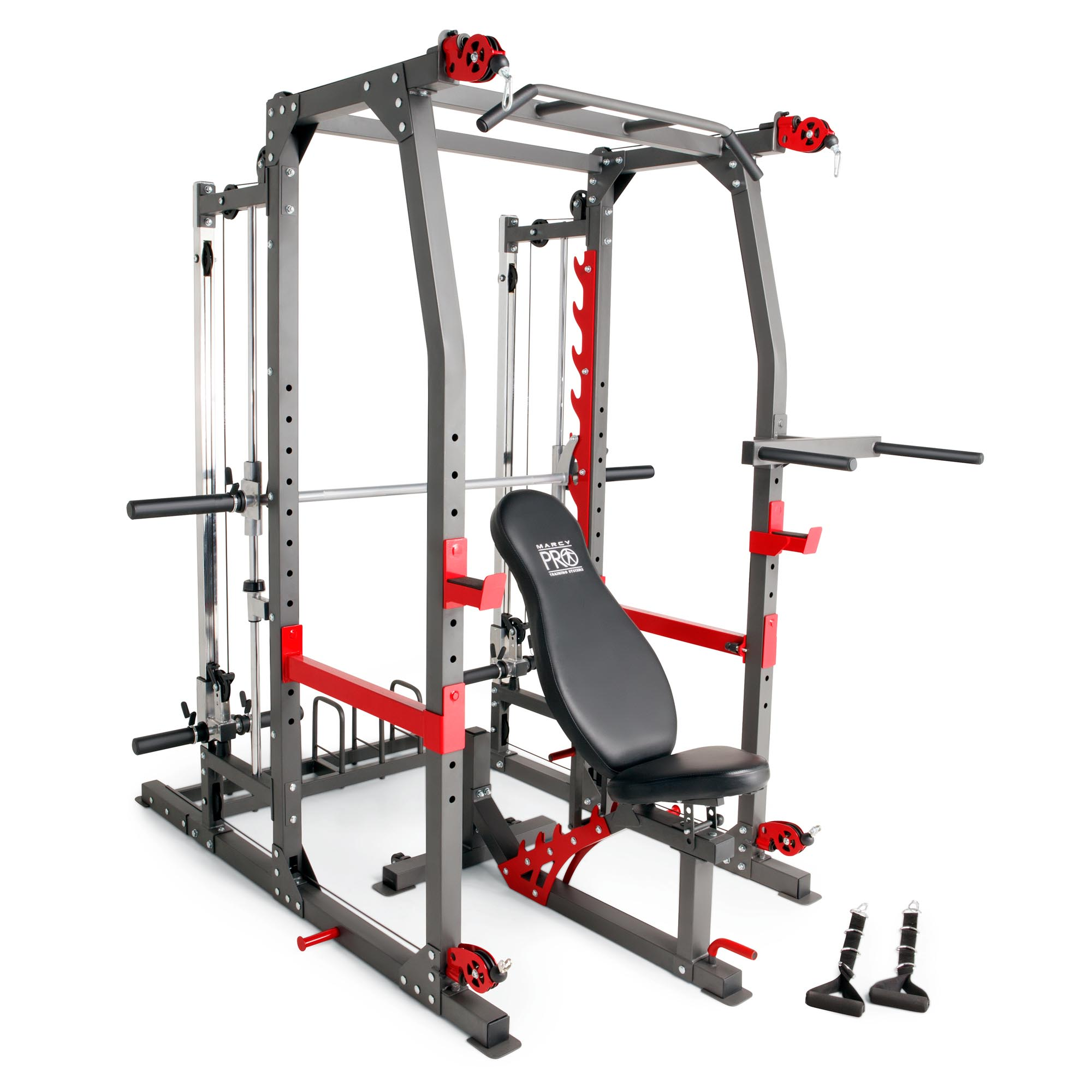 Marcy Pro Smith Machine Weight Bench Home Gym Total Body Workout Training System Ebay