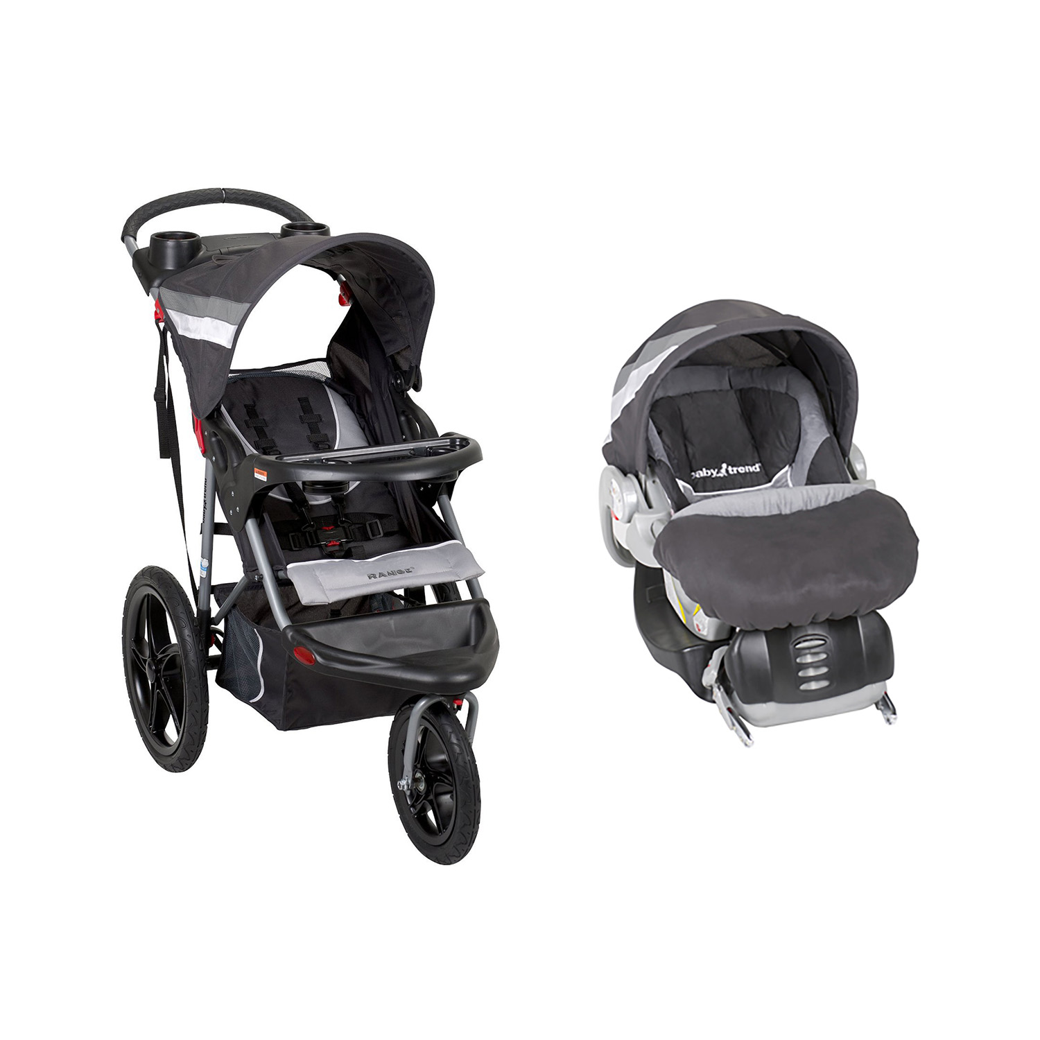 baby trend range jogging stroller and infant car seat travel system liberty ebay. Black Bedroom Furniture Sets. Home Design Ideas