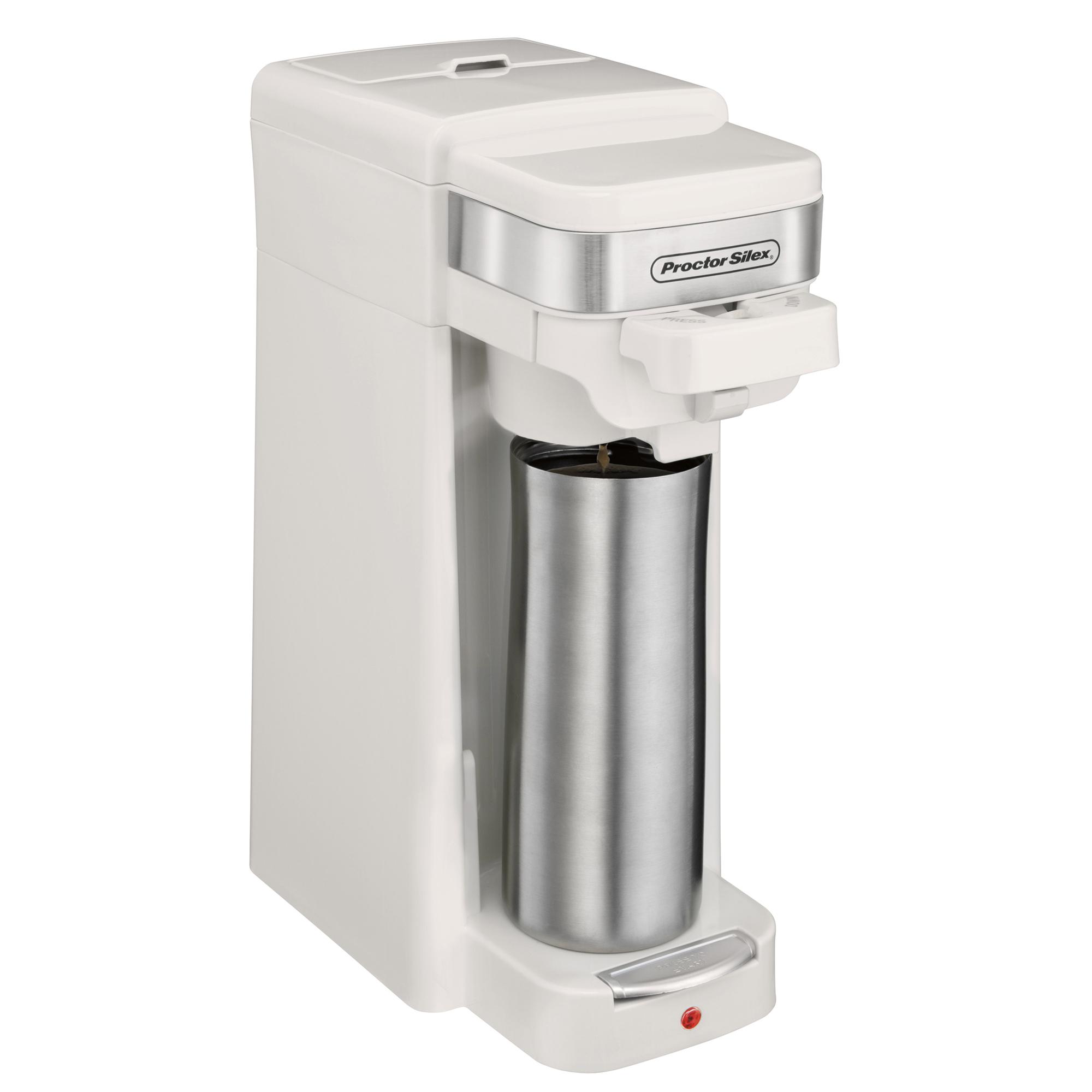 proctor silex single serve k cup compatible compact coffee. Black Bedroom Furniture Sets. Home Design Ideas