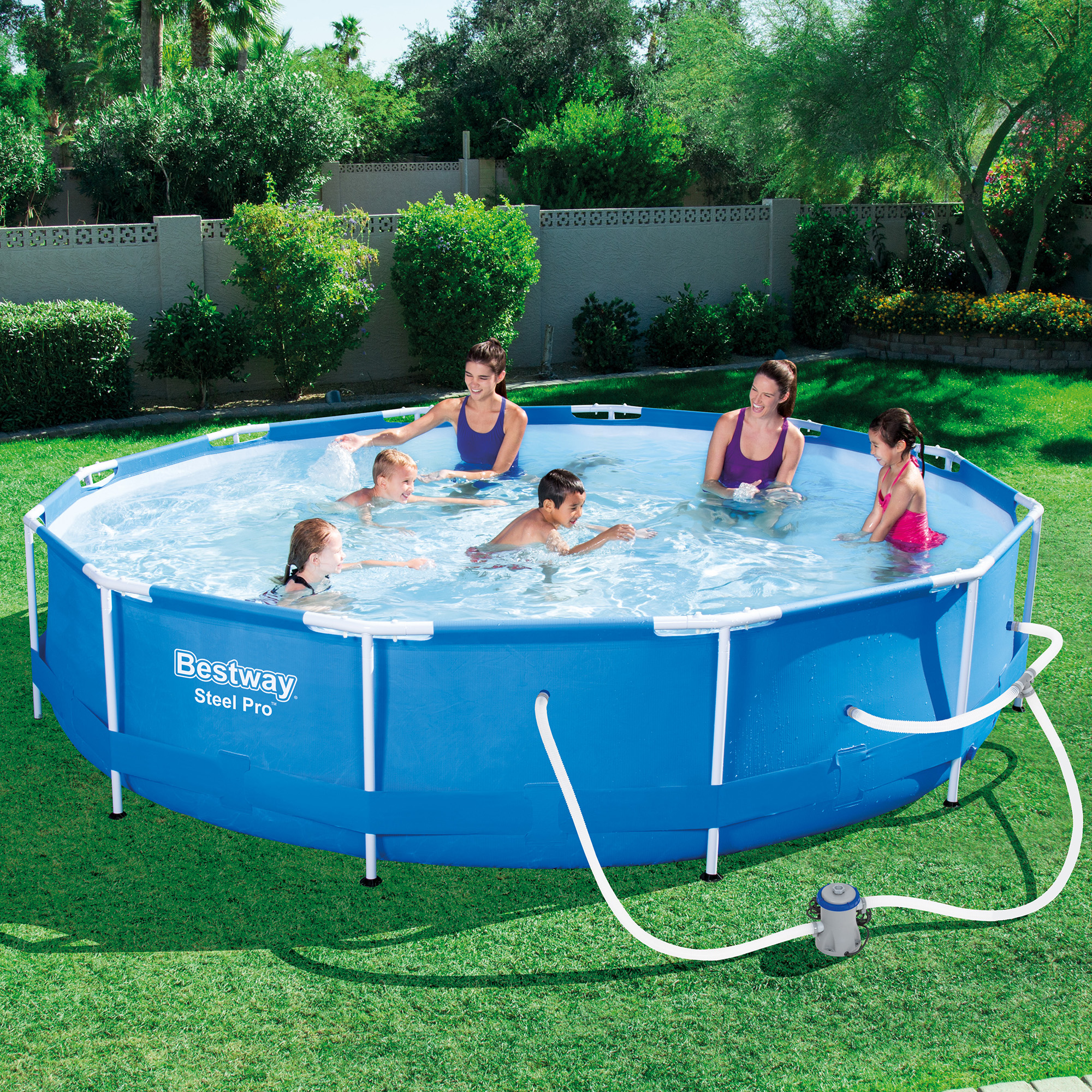 Bestway steel pro 12 39 x 30 frame above ground pool set for Billige pool sets