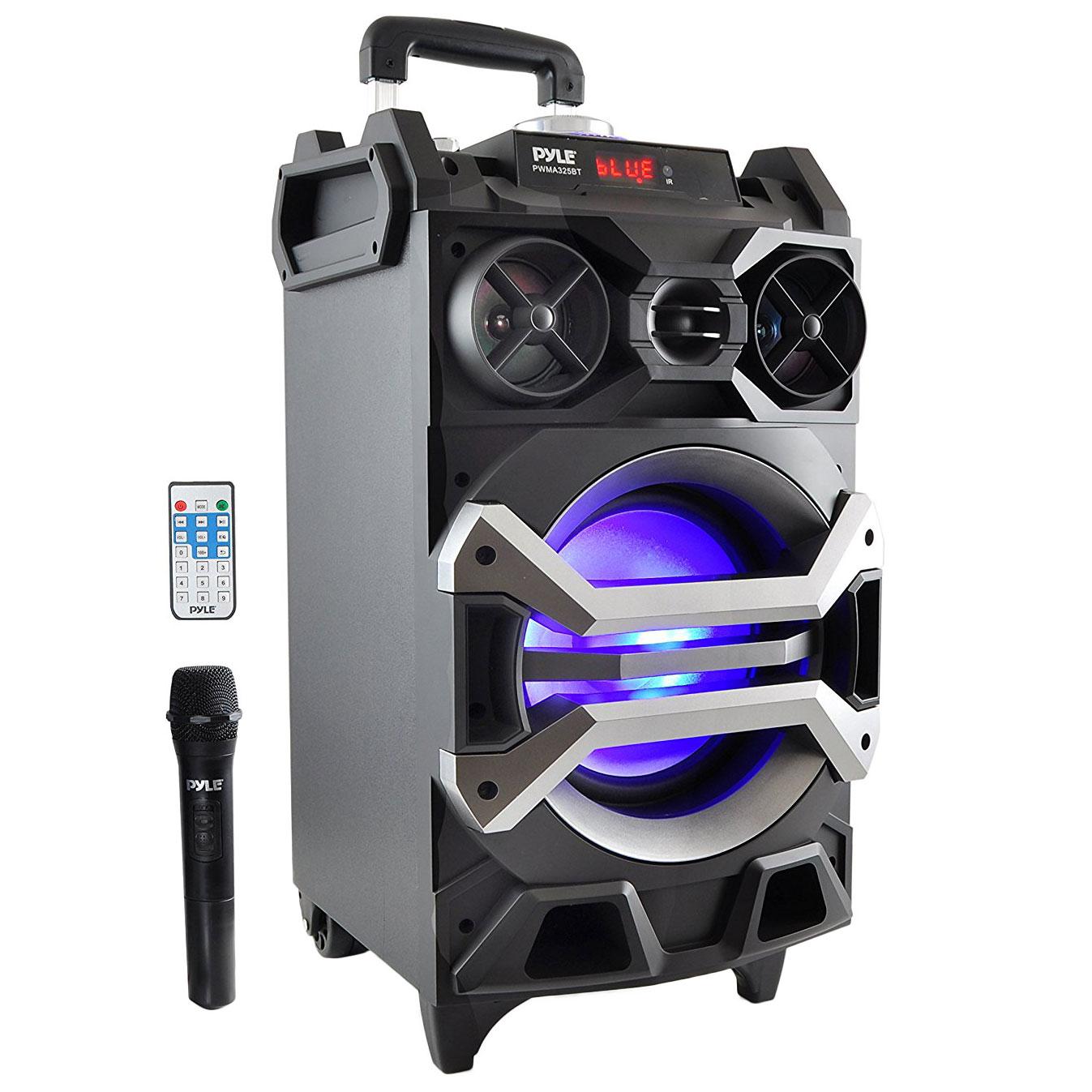 Pyle pa loudspeaker portable bluetooth karaoke system w for Porta wireless