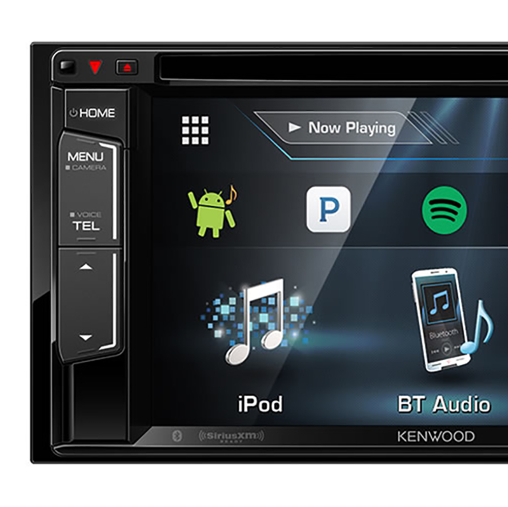 kenwood 6 2 lcd double din dvd cd am fm bluetooth in dash. Black Bedroom Furniture Sets. Home Design Ideas