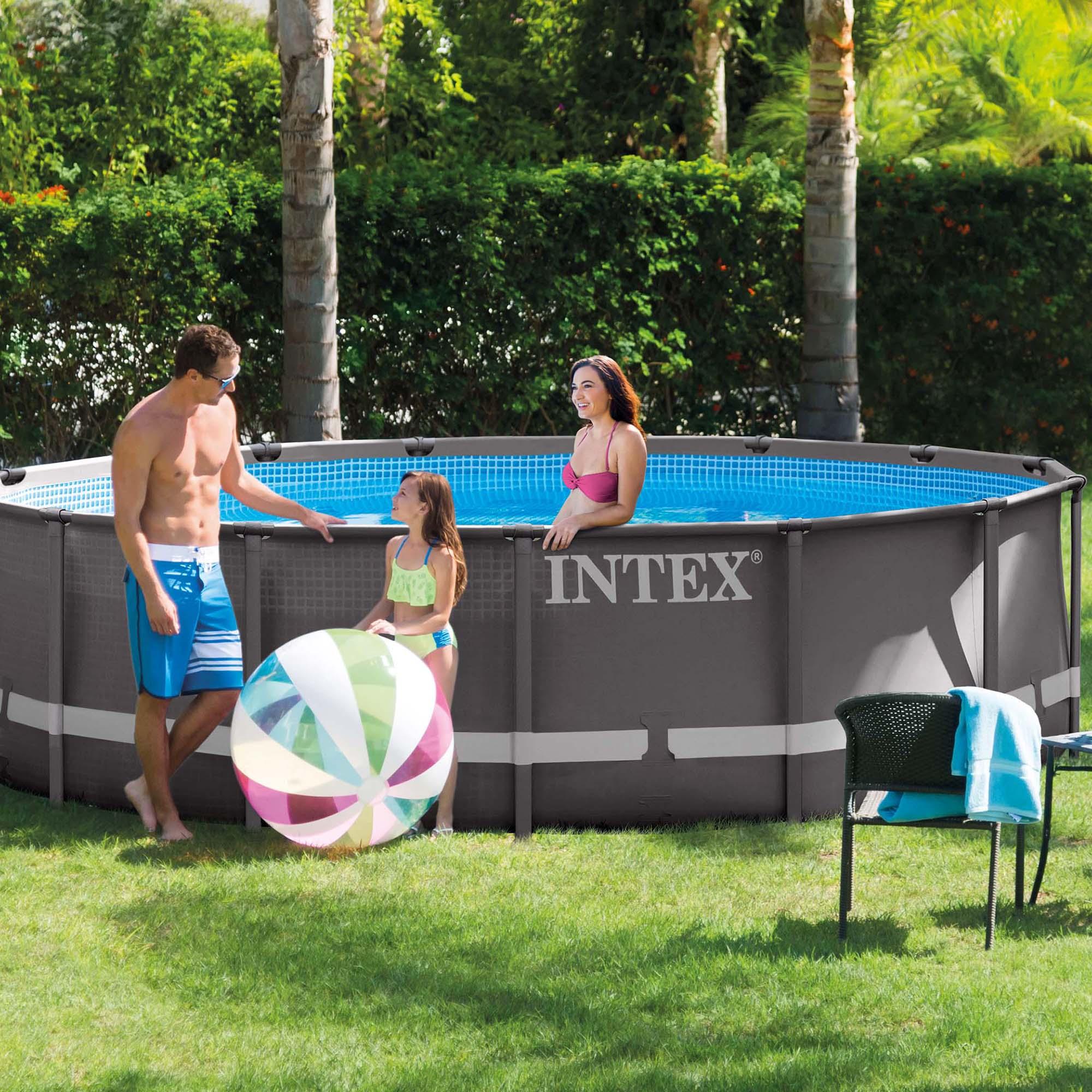 Brilliant Intex Pools 15 Ft Intended Design Decorating