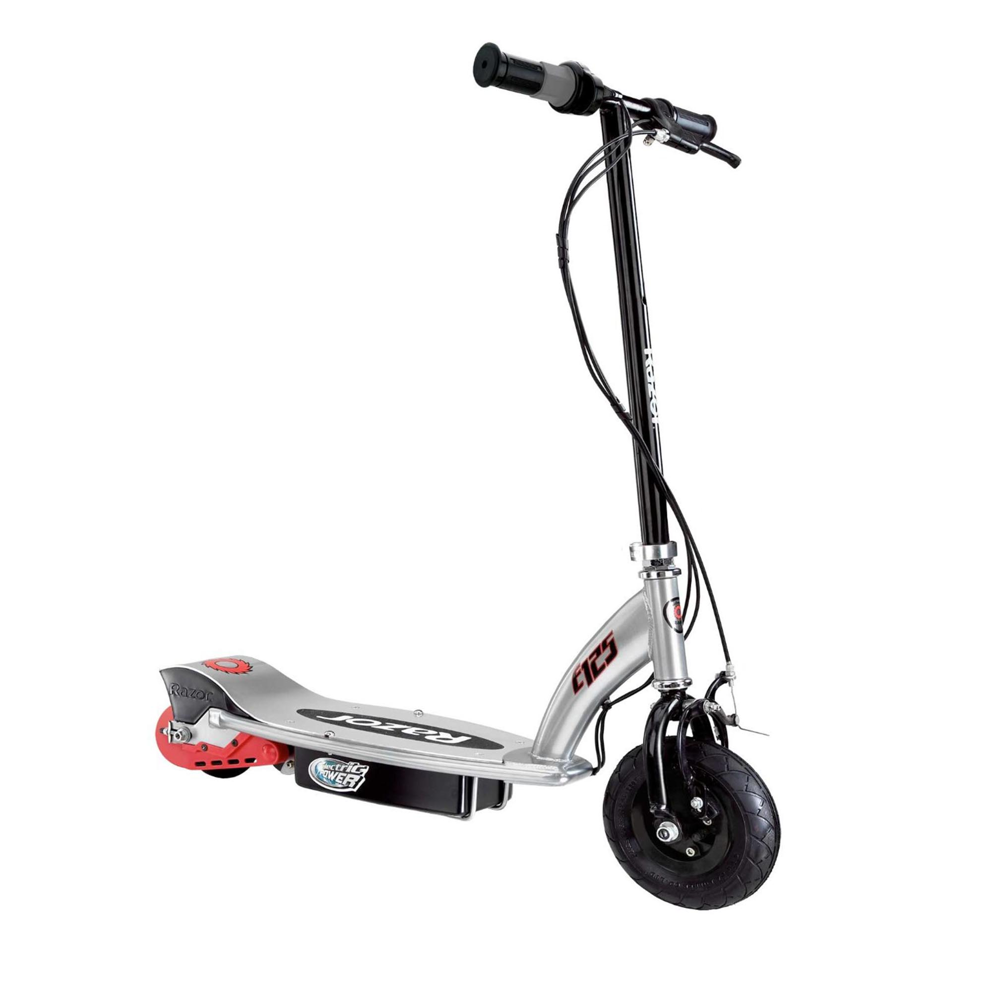 razor e125 motorized 24 volt rechargeable battery kids electric scooter black ebay. Black Bedroom Furniture Sets. Home Design Ideas