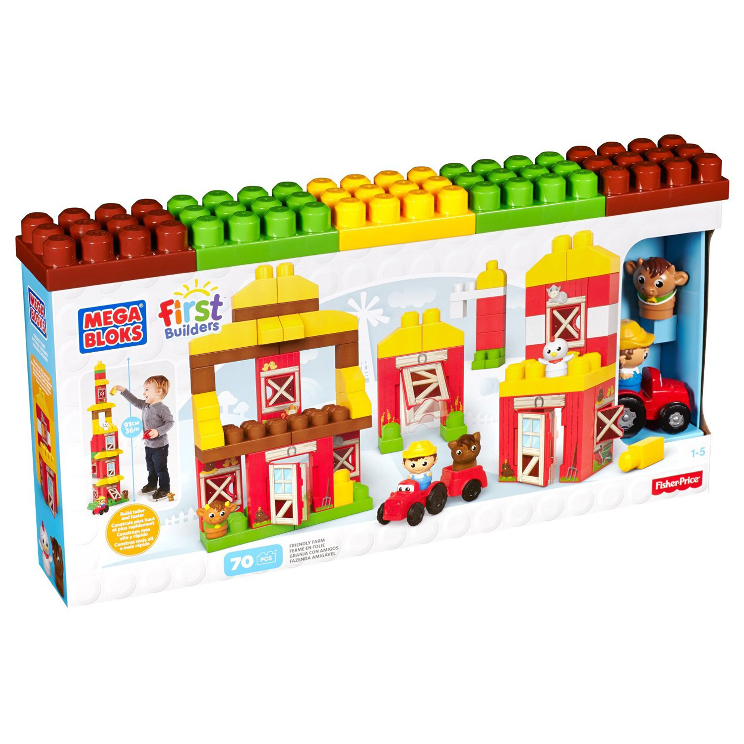 Mega bloks first builders 70 piece highly detailed for Builders first