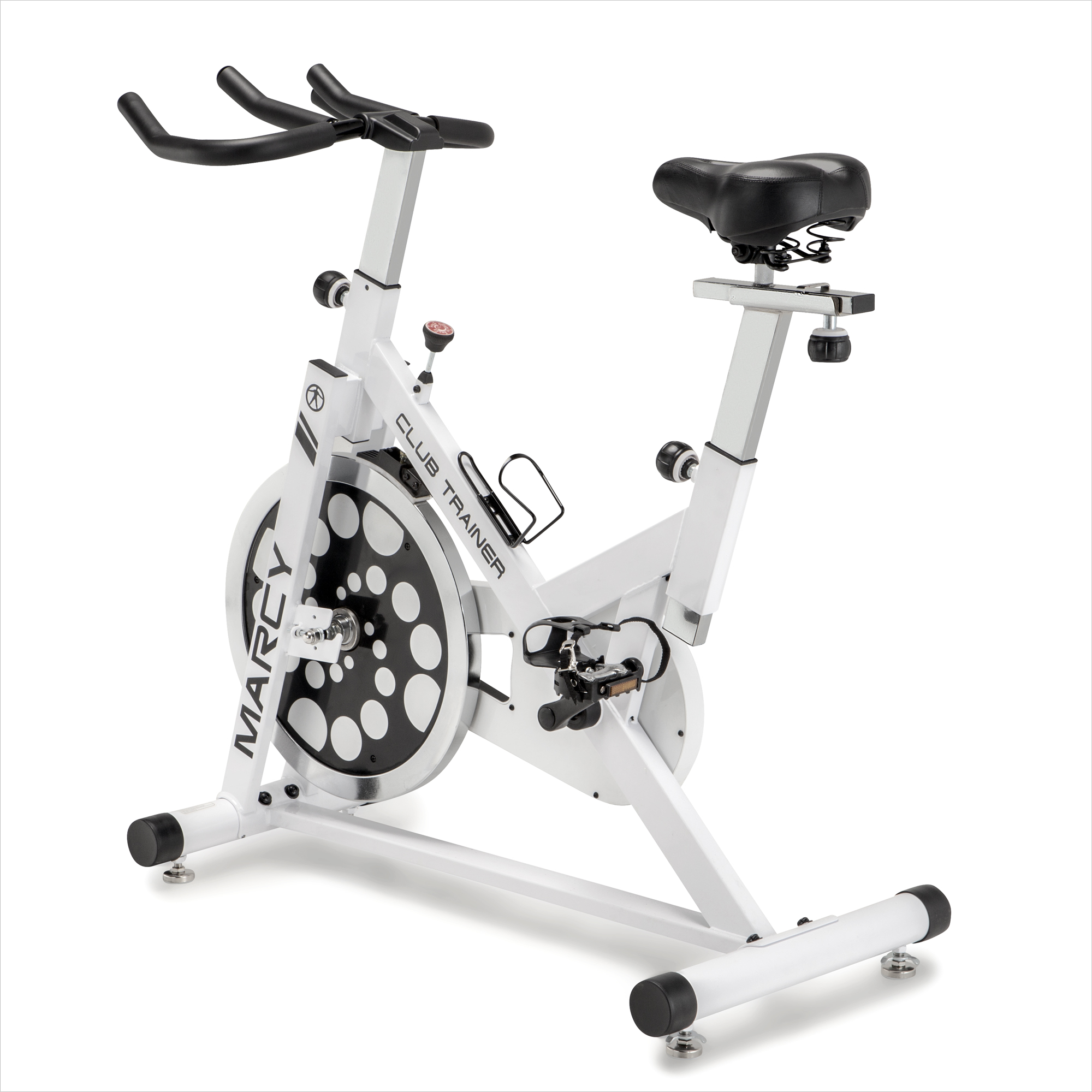 Details about Marcy XJ-5801 Club Revolution Indoor Home Gym Exercise Bike  Trainer, White/Black