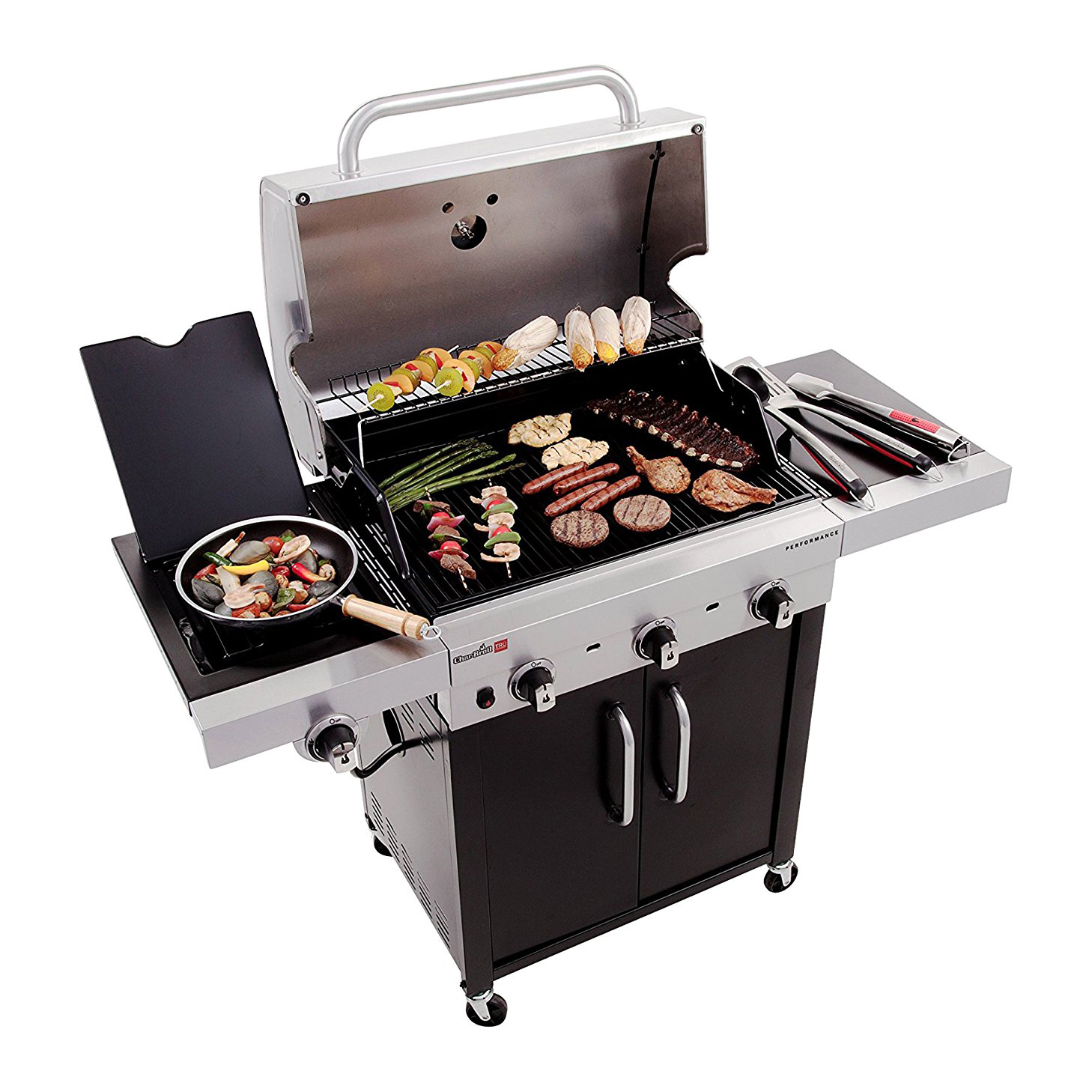 Char Broil Performance TRU Infrared 450 Inch 3 Burner Cabinet Gas