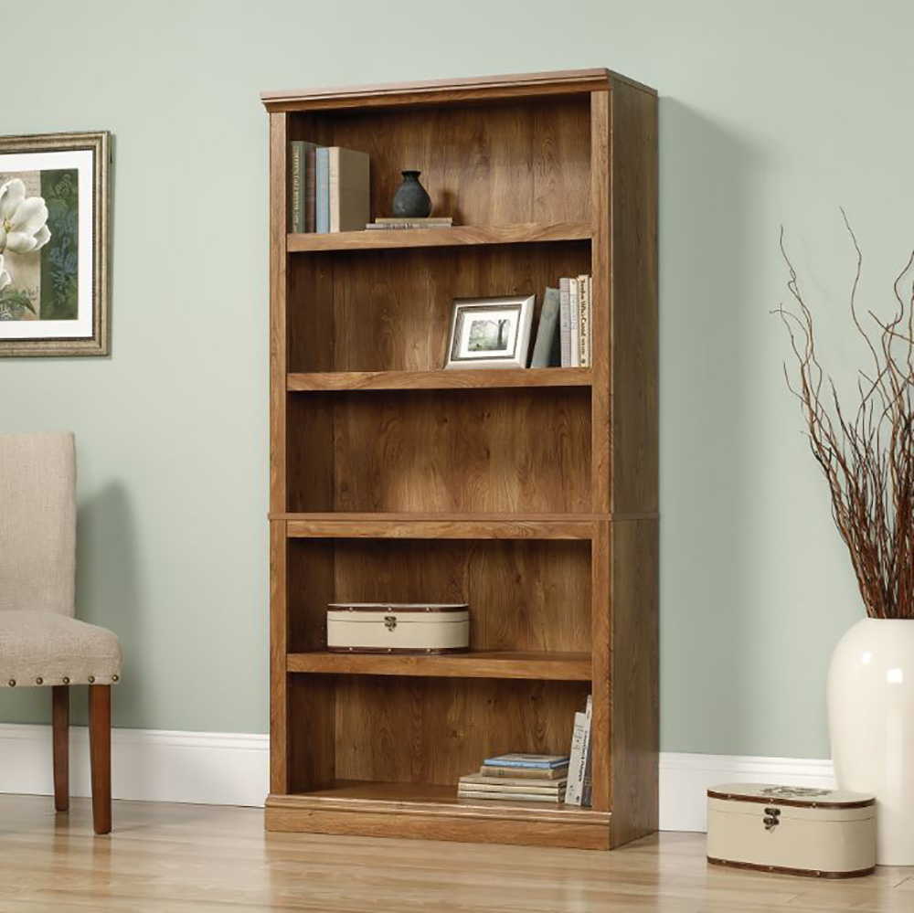 Sauder Furniture Select Collection 5 Shelf Bookcase Chestnut Finish 416354