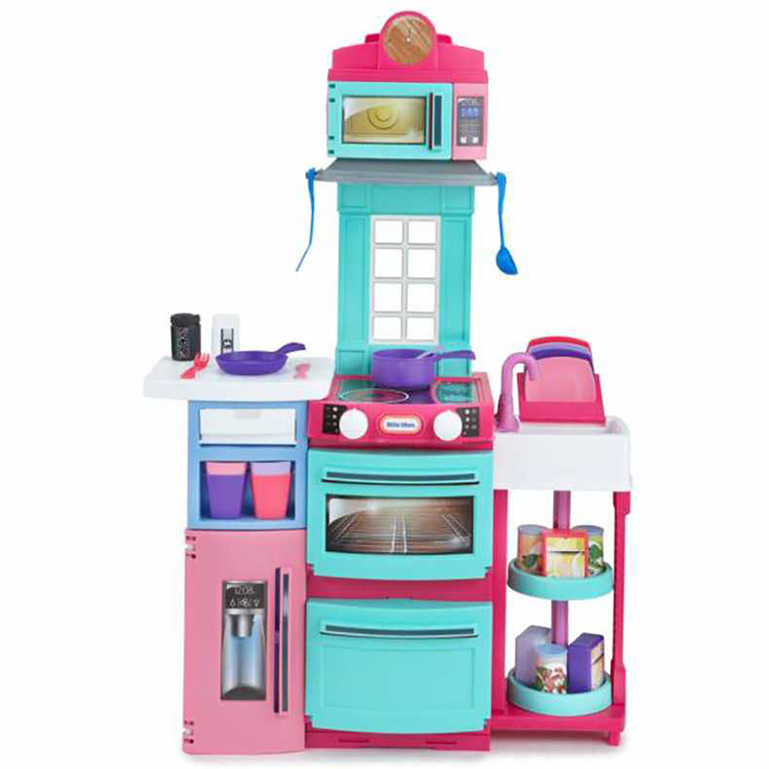 Little Tikes Cook \'n Store Kitchen Pretend Play Cooking Toy Set for ...
