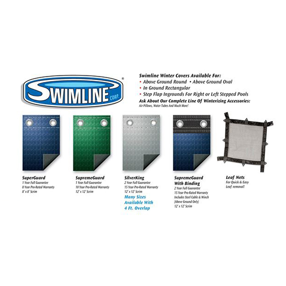 Swimline 15x30 blue winter oval above ground swimming pool - Opening a swimming pool after winter ...
